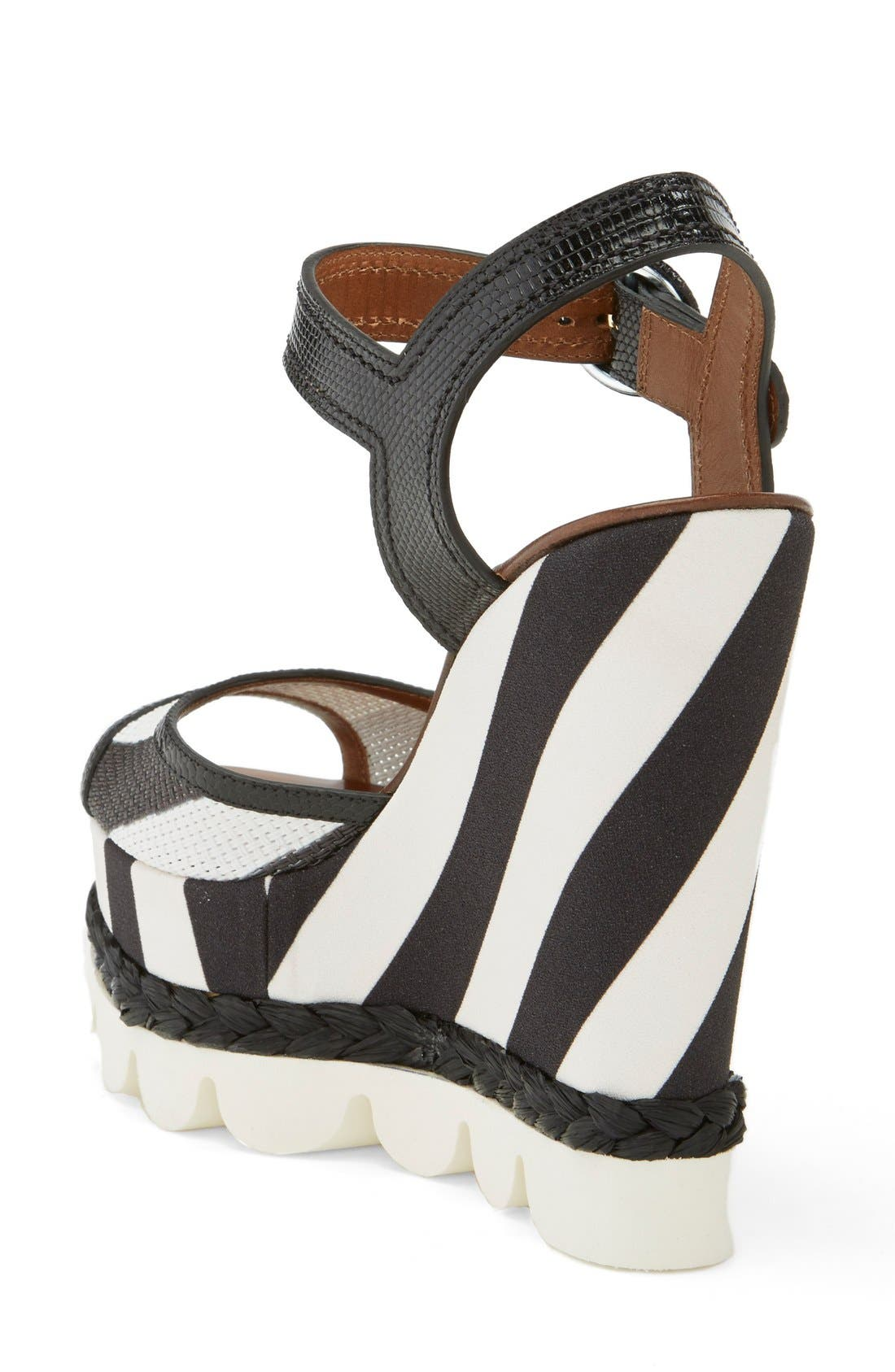 Alternate Image 2  - Dolce&Gabbana Stripe Platform Wedge Sandal (Women)