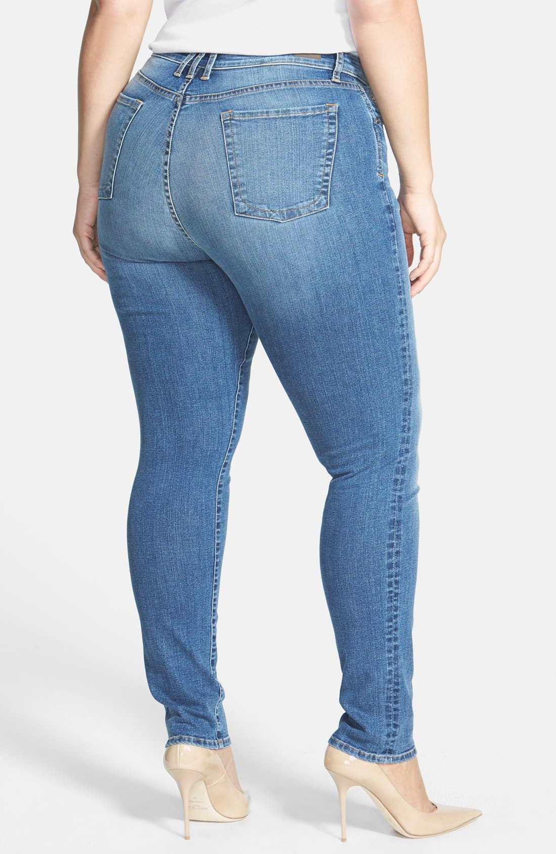 Alternate Image 2  - KUT from the Kloth 'Diana' Stretch Skinny Jeans (Contingent) (Plus Size)