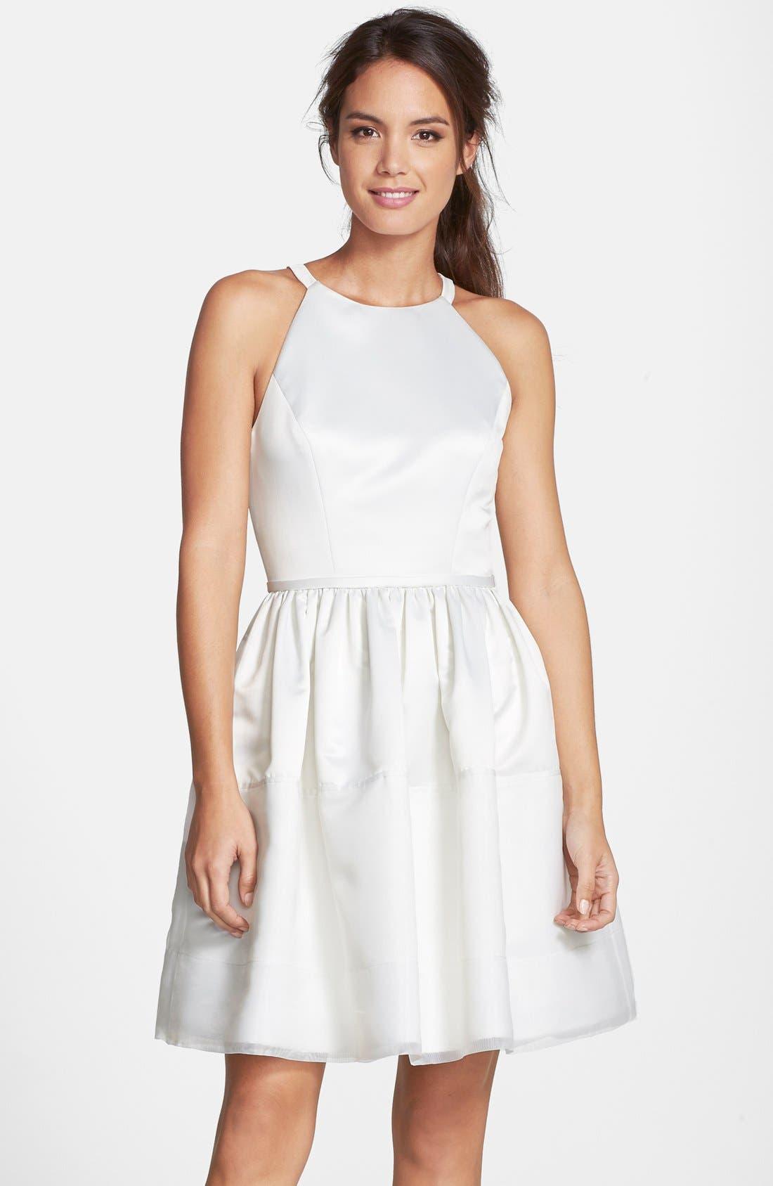Main Image - ERIN erin fetherston 'Savannah' Satin Fit & Flare Dress