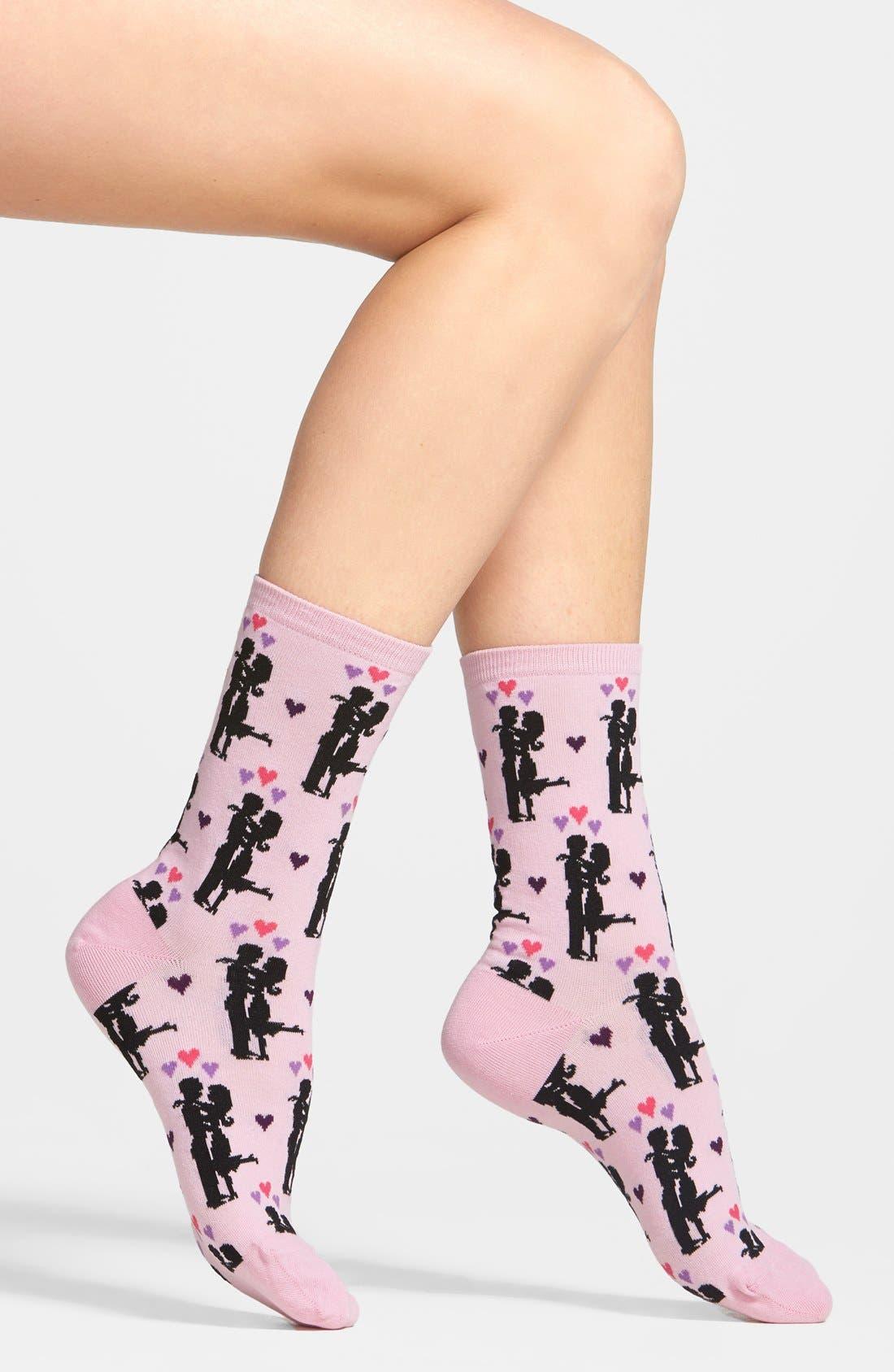 Alternate Image 1 Selected - Hot Sox 'Happy Couple' Socks