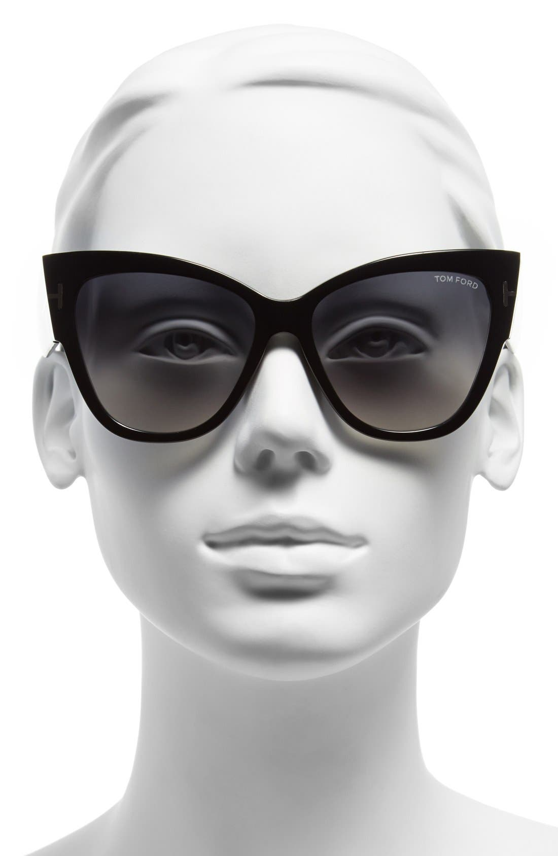 Alternate Image 2  - Tom Ford Anoushka 57mm Gradient Cat Eye Sunglasses