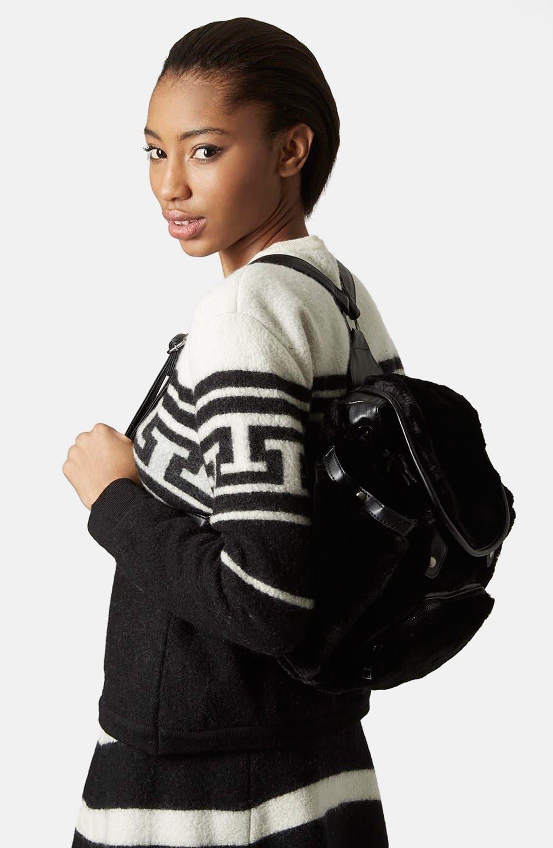 Alternate Image 2  - Topshop Faux Fur Backpack