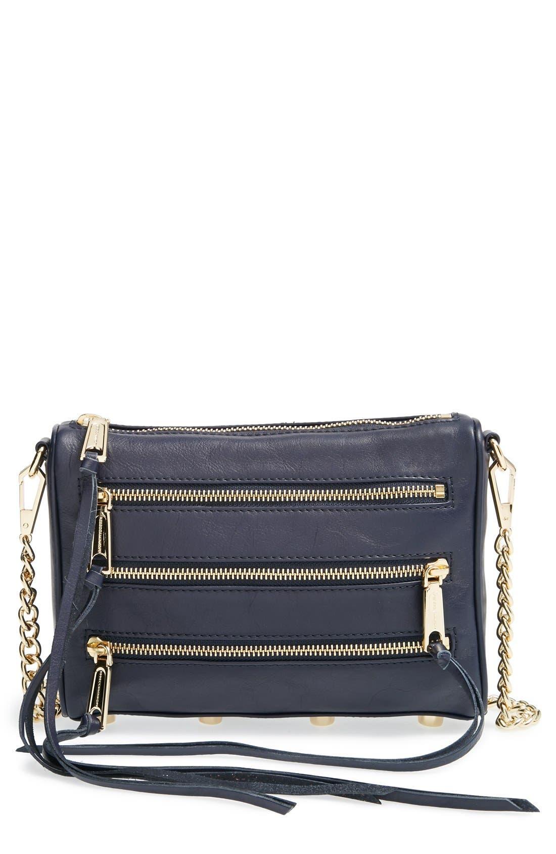 Alternate Image 1 Selected - Rebecca Minkoff 'Mini 5-Zip' Convertible Crossbody Bag