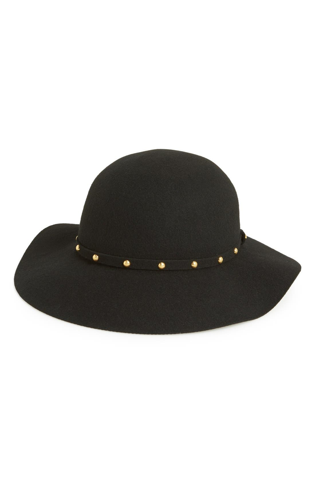 Alternate Image 1 Selected - San Diego Hat Floppy Wool Felt Hat with Studded Band