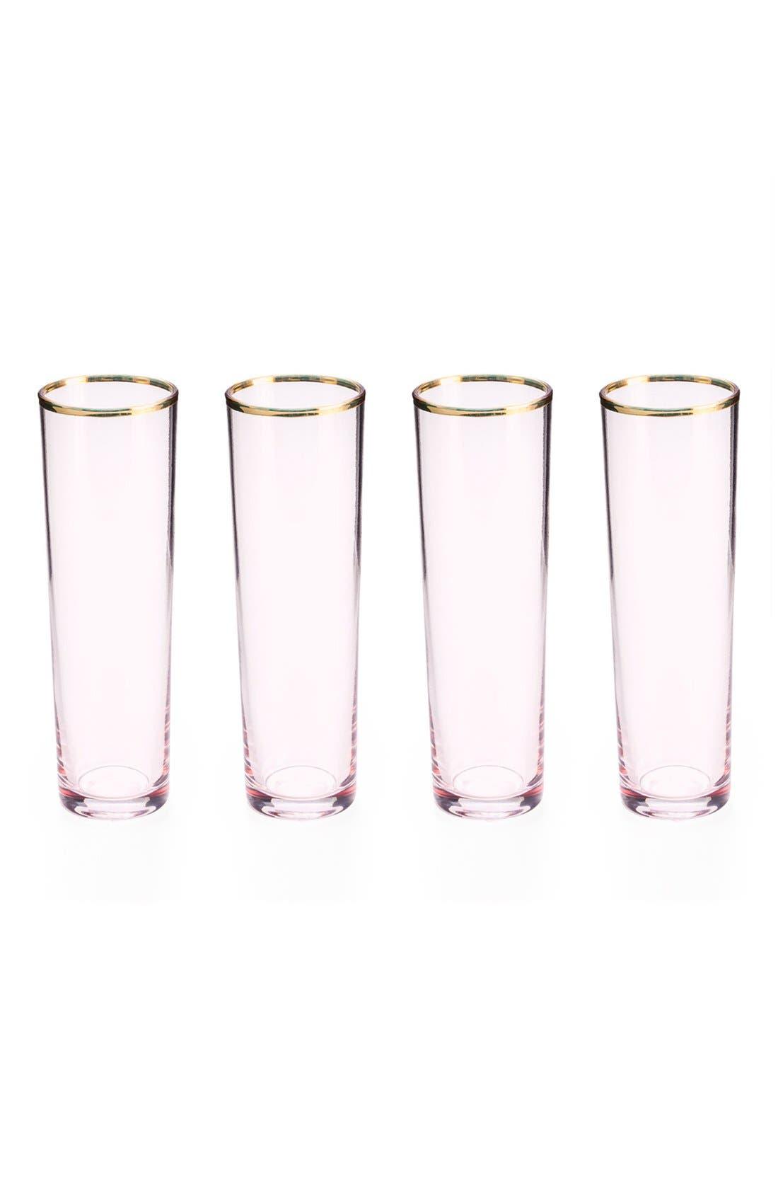 Alternate Image 1 Selected - Rosanna Pink Glass Champagne Flutes (Set of 4)