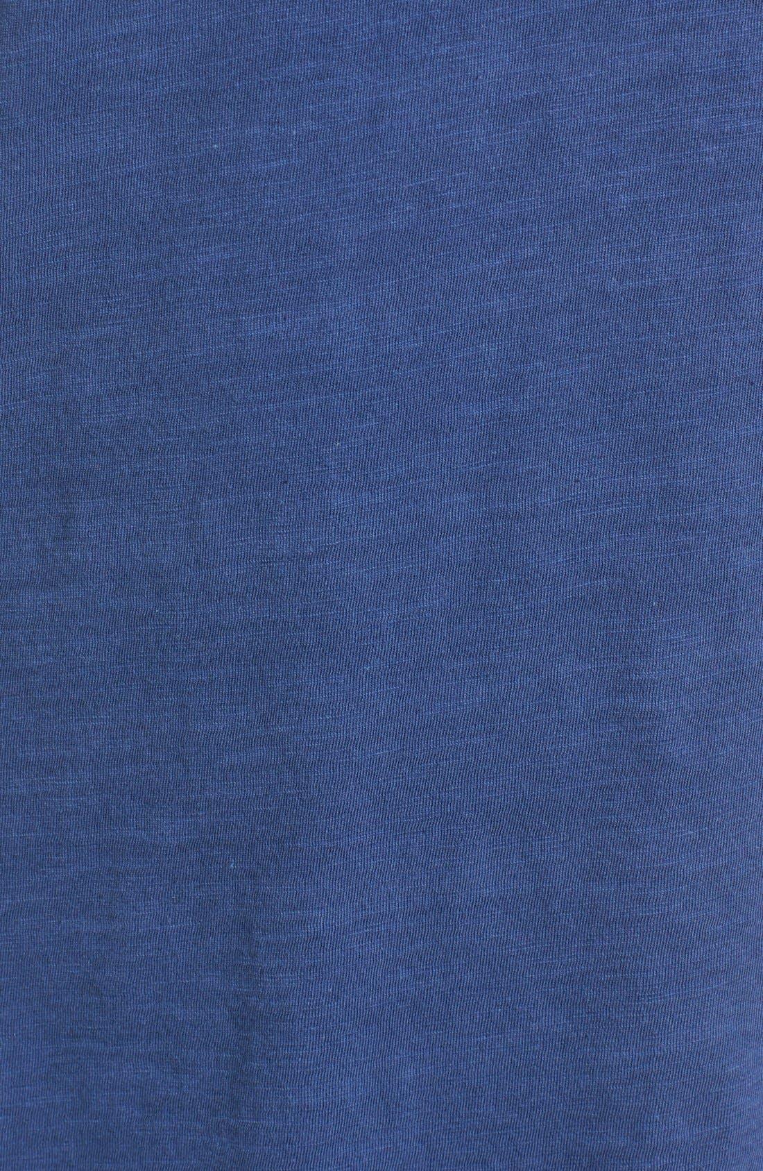 Organic Cotton V-Neck Tee,                             Alternate thumbnail 5, color,                             Denim