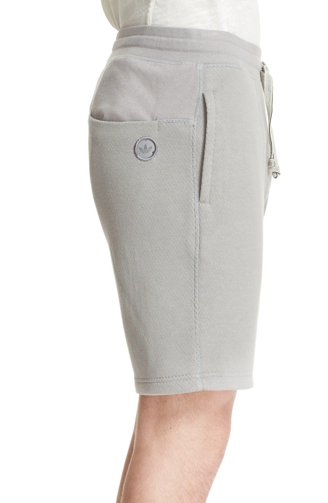 Bonded Jersey Shorts,                             Alternate thumbnail 3, color,                             Grey