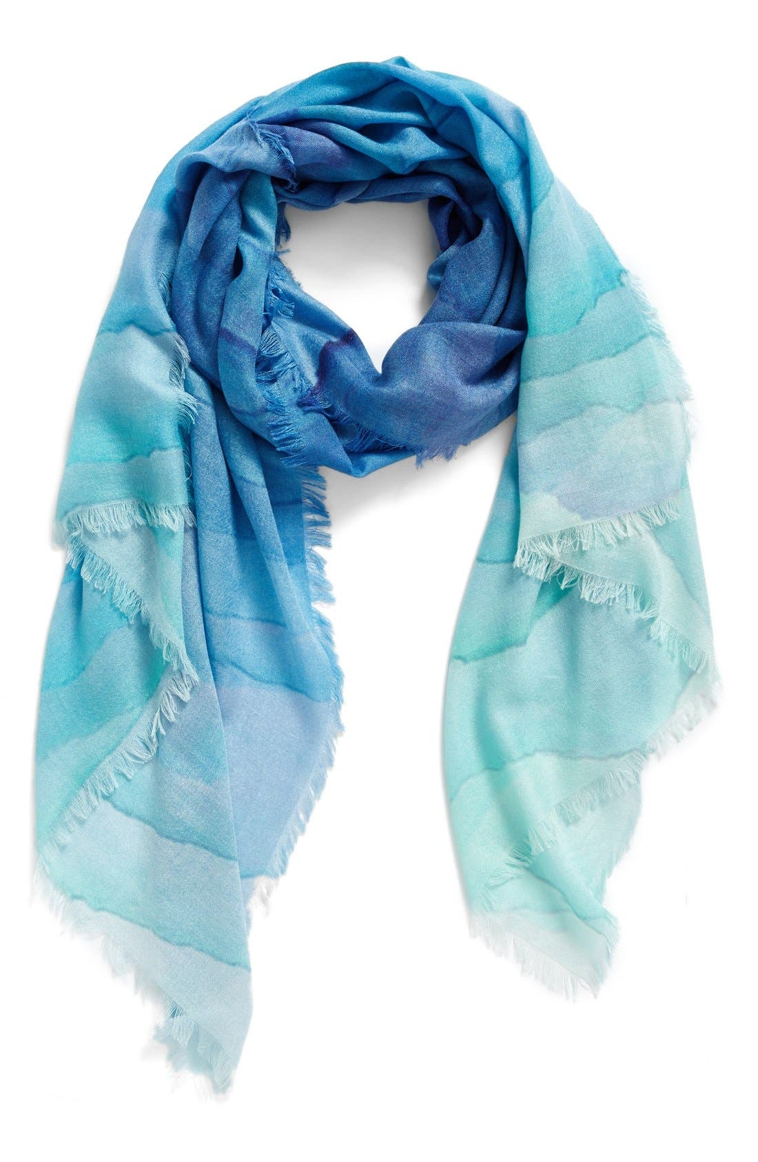 Nordstrom Prismatic Color Play Cashmere & Silk Scarf