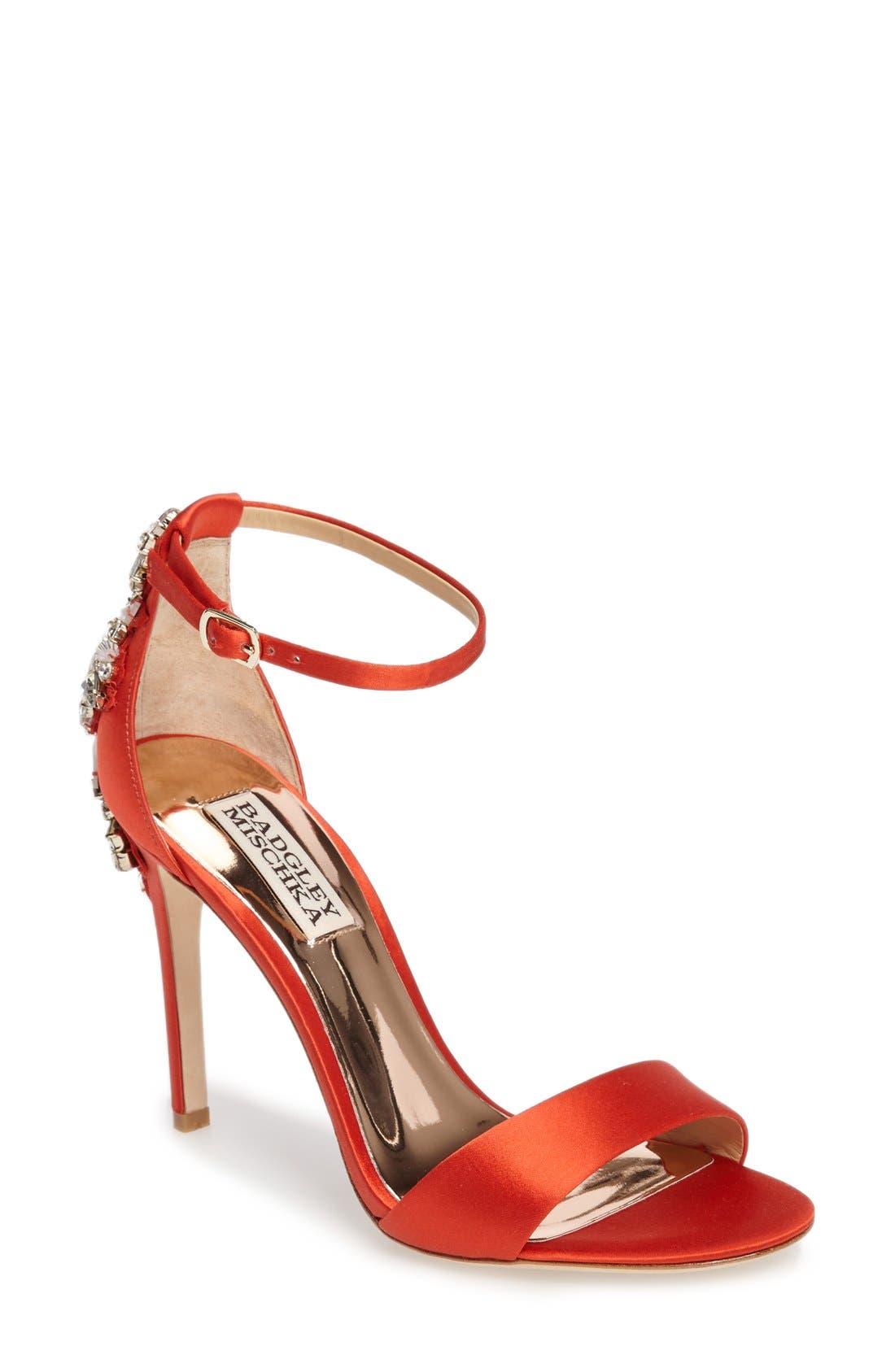 Alternate Image 1 Selected - Badgley Mischka Bartley Ankle Strap Sandal (Women)