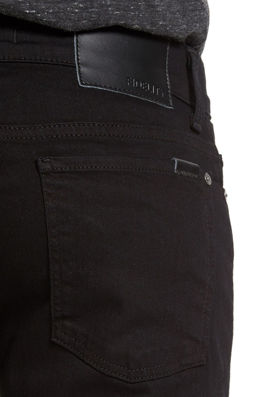 Alternate Image 4  - Fidelity Denim Vantage Skinny Fit Jeans (Ever Black)