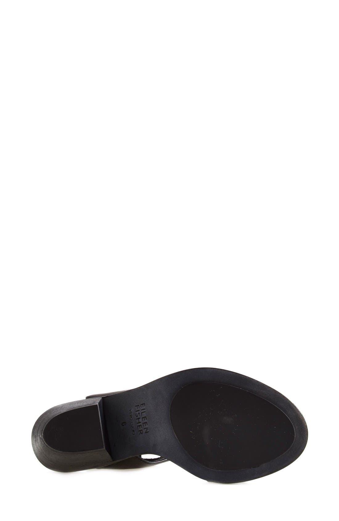 'Art' Tumbled Leather Ankle Cuff Sandal,                             Alternate thumbnail 4, color,                             Black