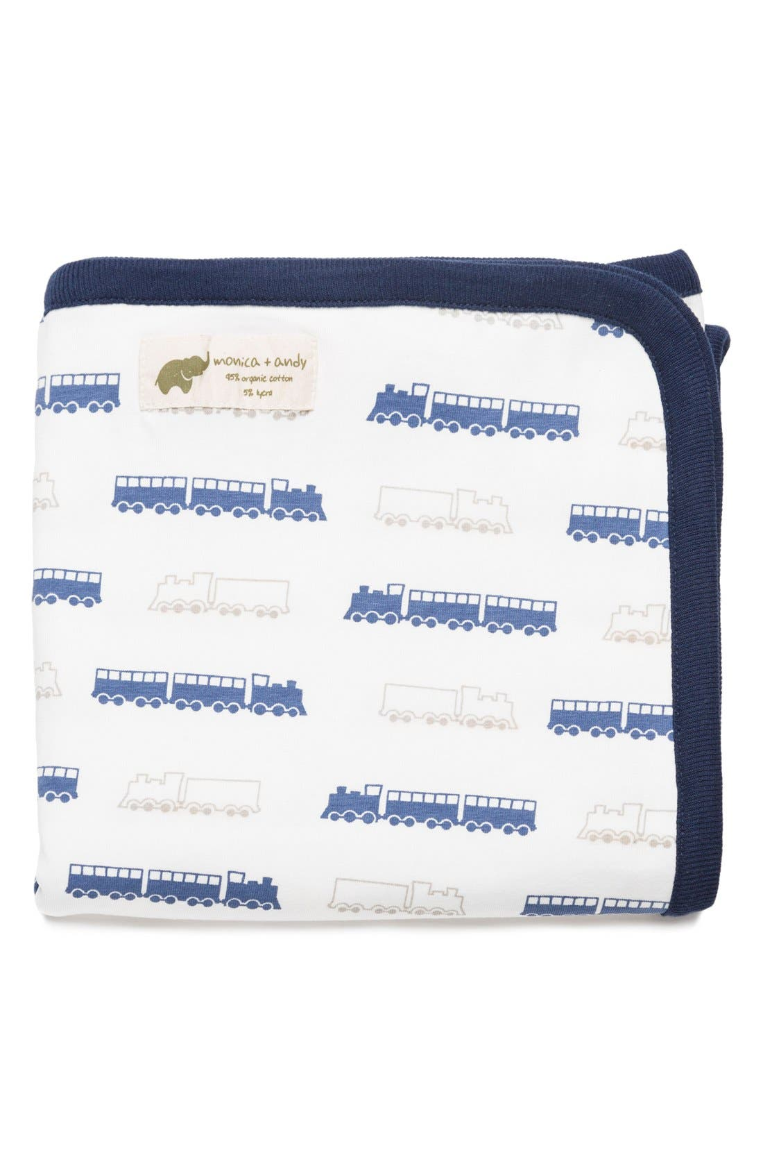 'Coming Home' Organic Cotton Blanket,                         Main,                         color, On Track
