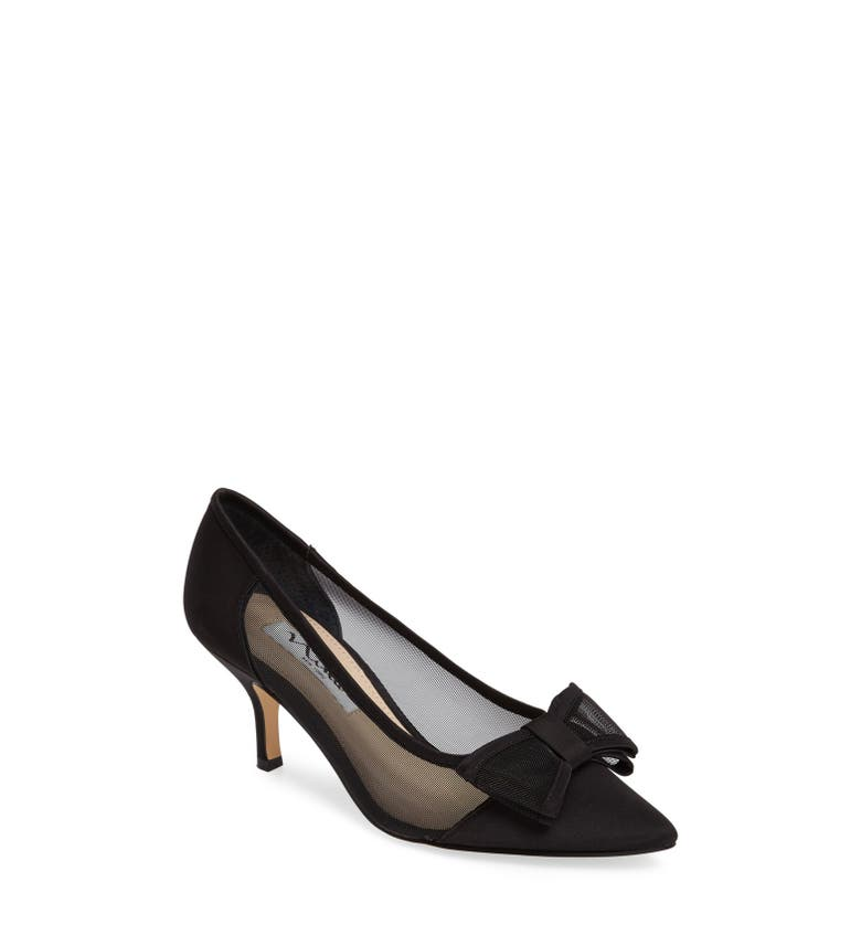 Bianca Pointy Toe Pump,                         Main,                         color, Black Satin