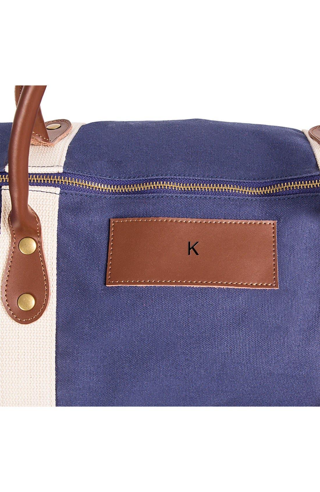Alternate Image 5  - Cathy's Concepts Monogram Duffel Bag