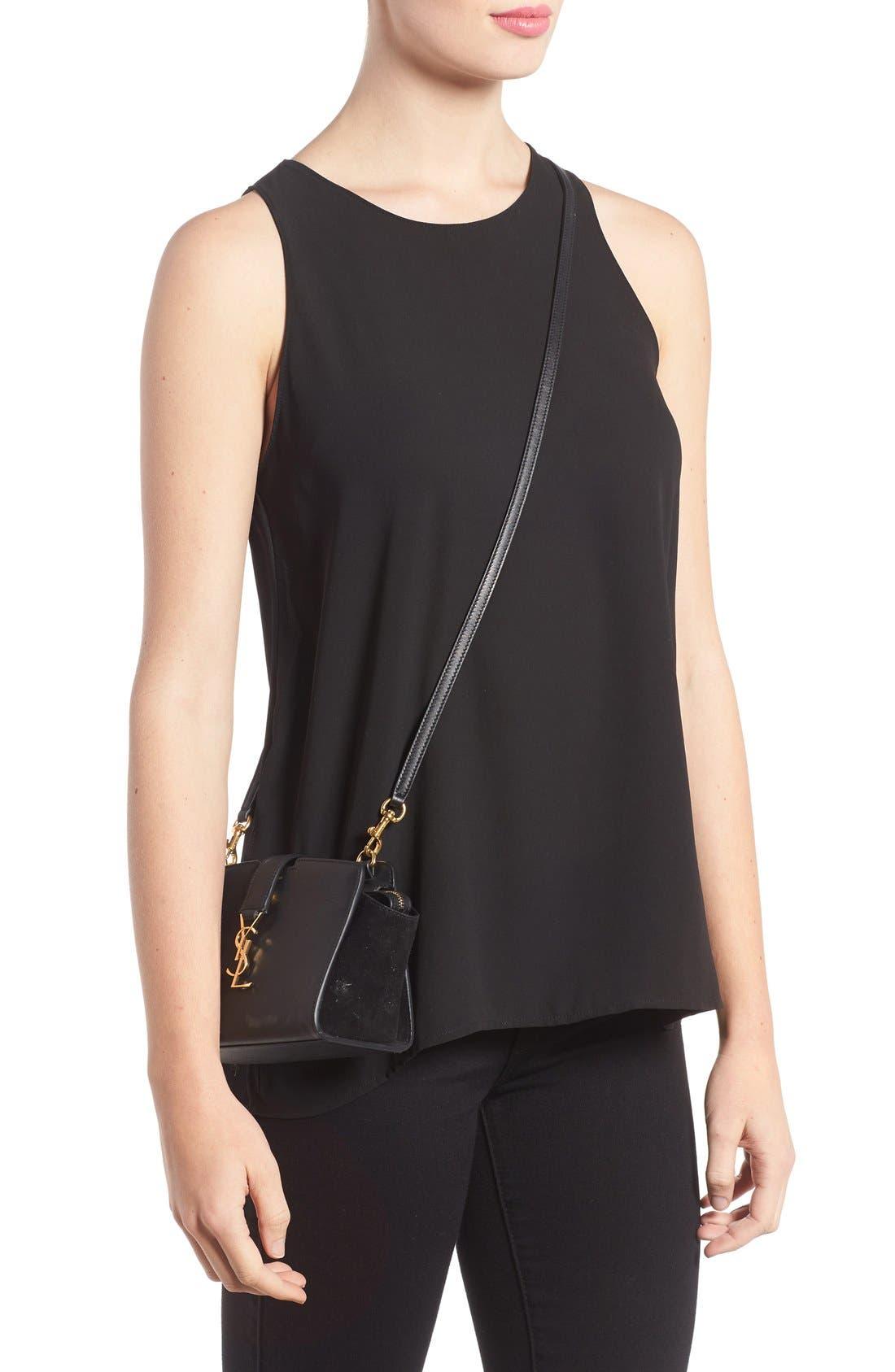 Alternate Image 2  - Saint Laurent Toy Cabas Leather Crossbody Bag