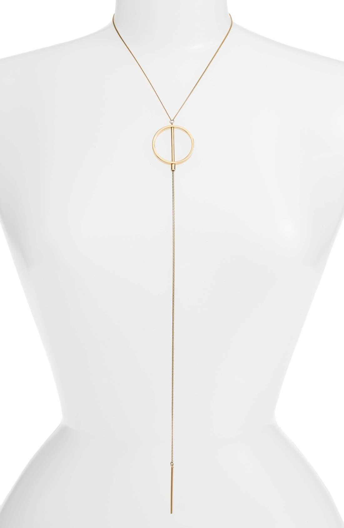 Rhine Lariat Necklace,                             Alternate thumbnail 2, color,                             Gold