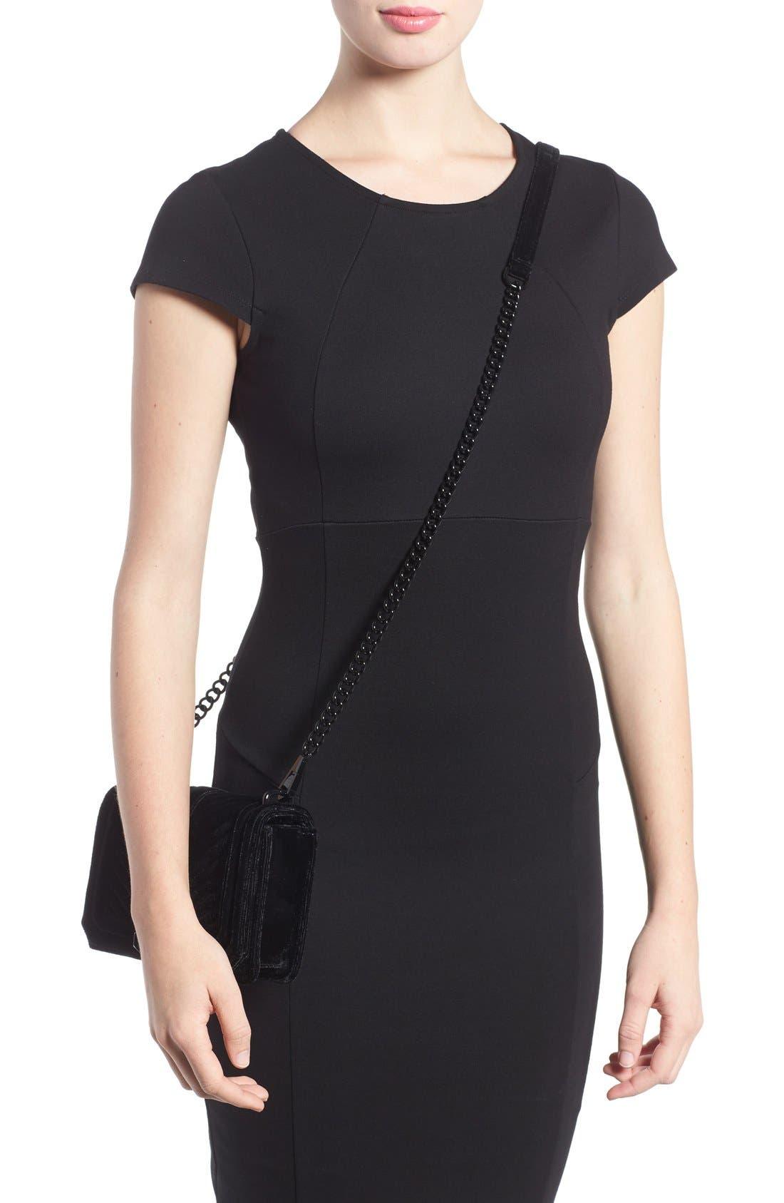 Alternate Image 2  - Rebecca Minkoff Small Love Quilted Velvet Crossbody Bag