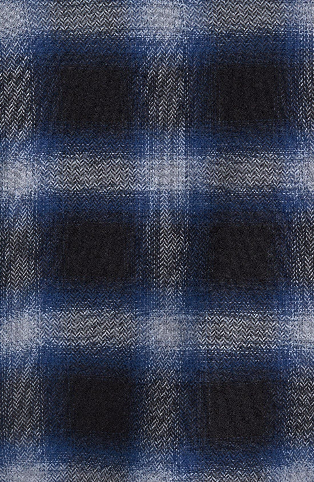 Michael Slim Fit Plaid Flannel Shirt,                             Alternate thumbnail 5, color,                             Blue
