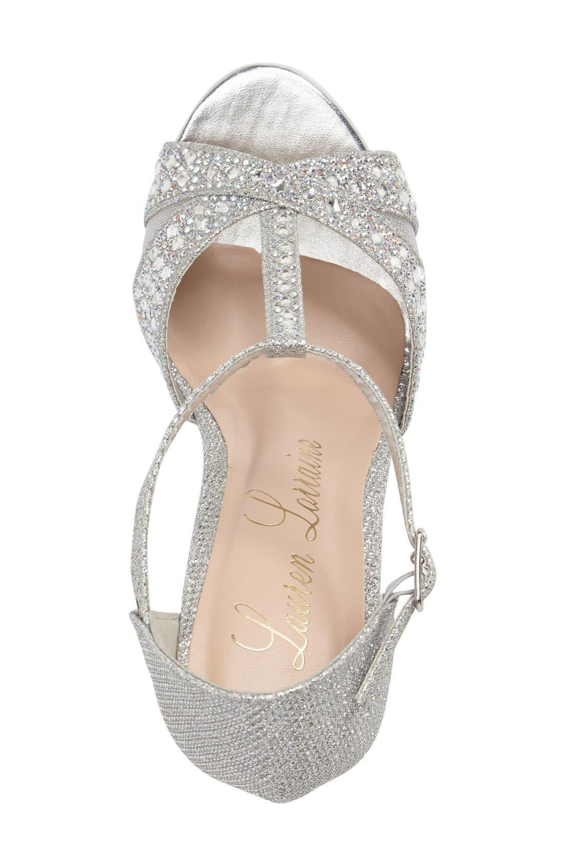 Alternate Image 3  - Lauren Lorraine Ness Crystal Embellished Wedge Sandal (Women)