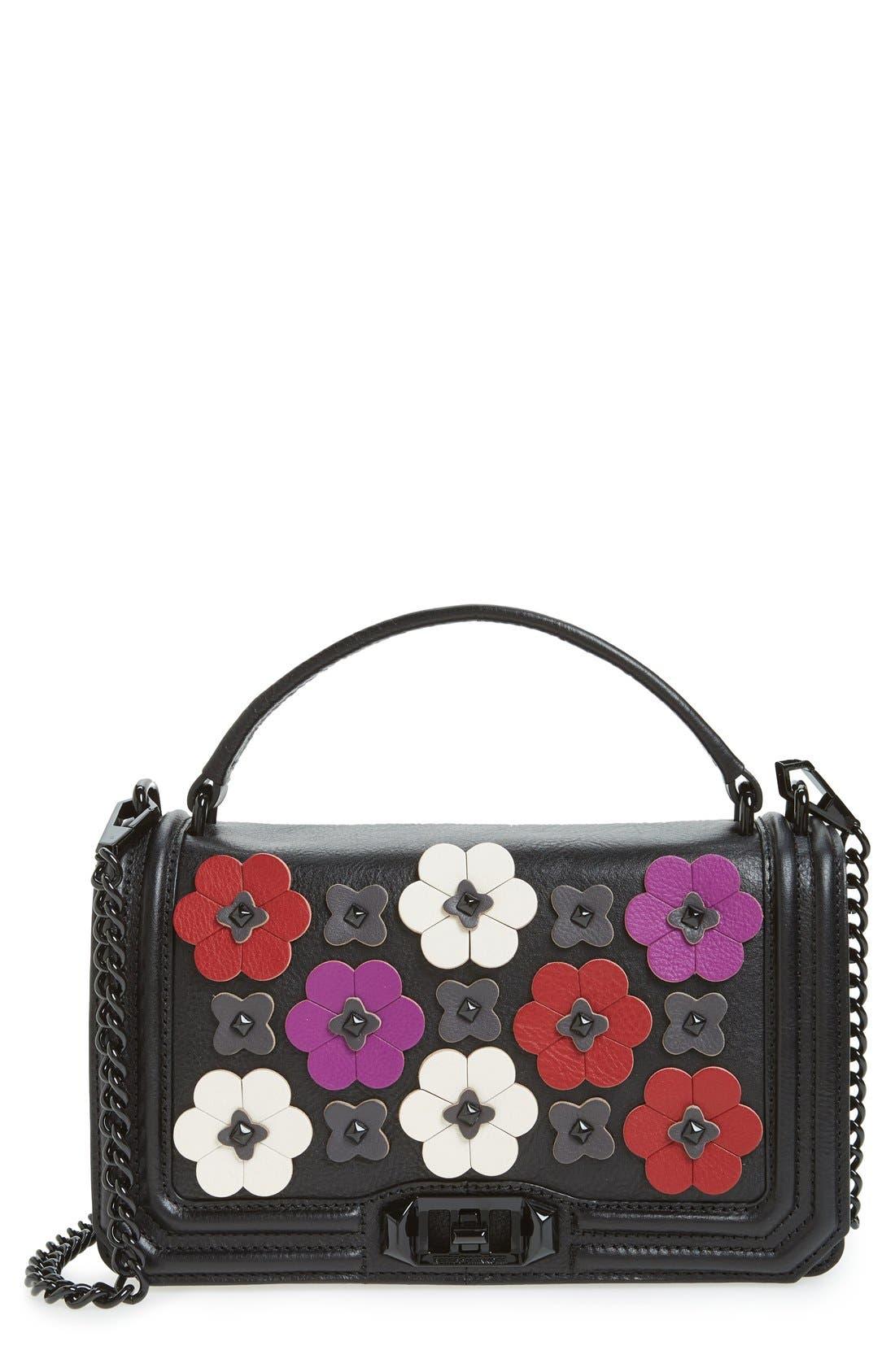 Main Image - Rebecca Minkoff Love Floral Appliqué Crossbody Bag