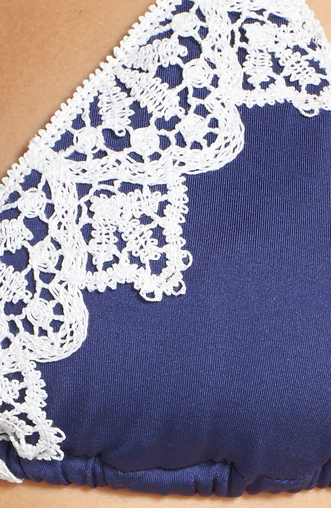 Alternate Image 5  - Blue Life 'Mirage' Lace Trim Triangle Bikini Top