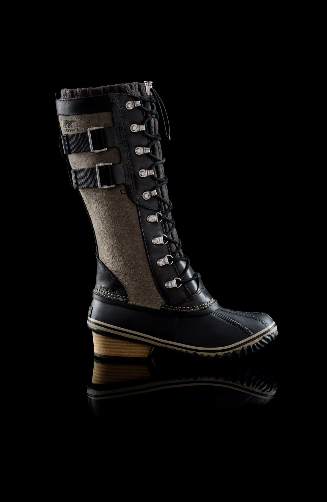 'Conquest Carly II' Waterproof Mid Calf Boot,                             Alternate thumbnail 5, color,                             Black