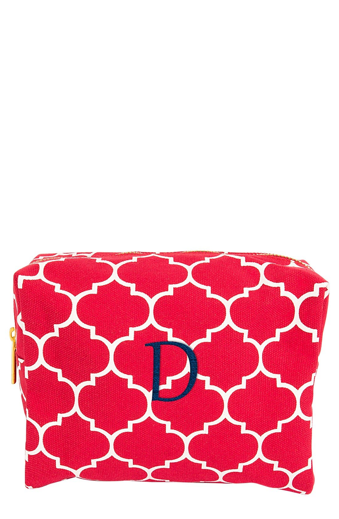 Cathy's Concepts Monogram Cosmetics Case