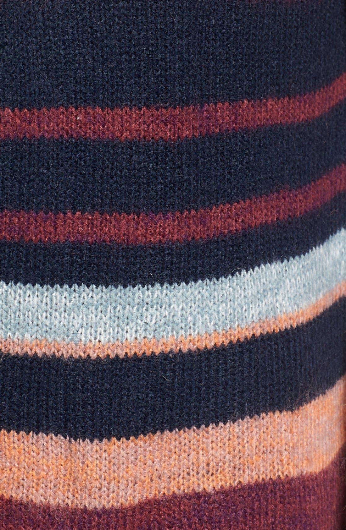 Alternate Image 5  - Caslon® Long Stripe Cardigan