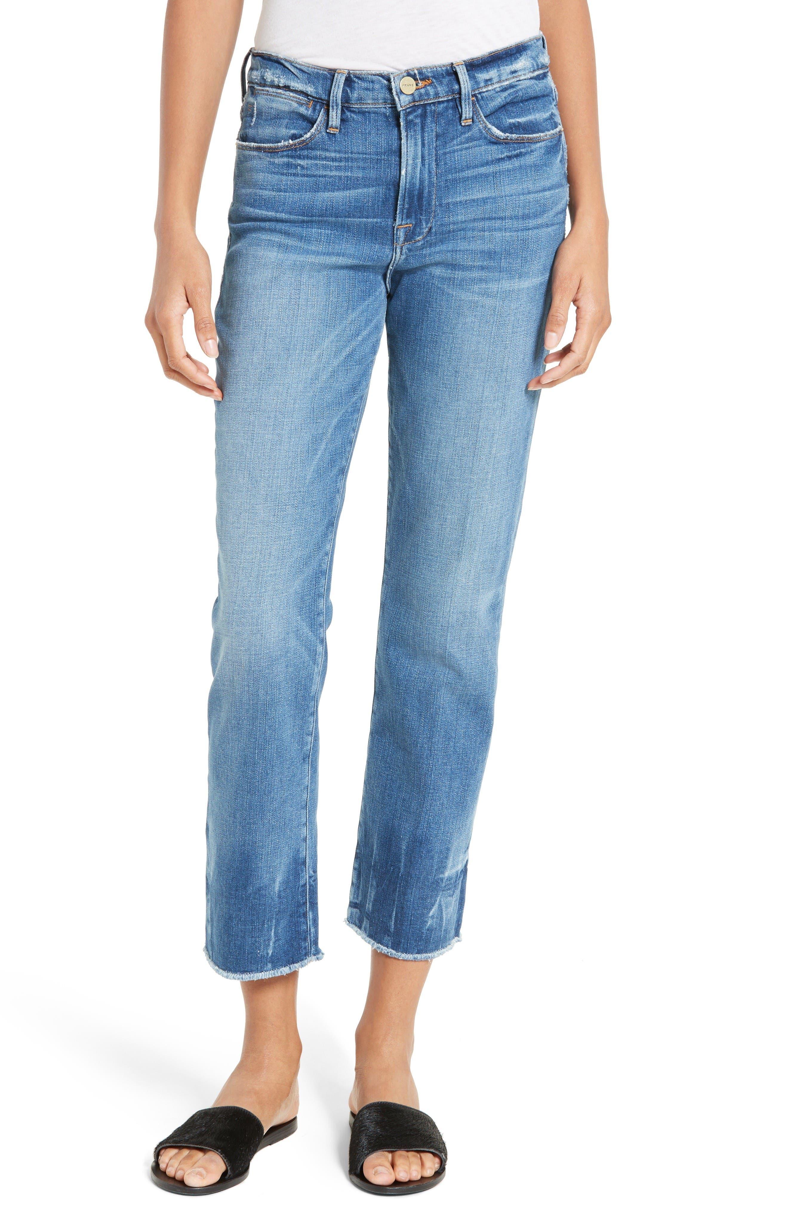 FRAME Le High Raw Edge High Waist Jeans