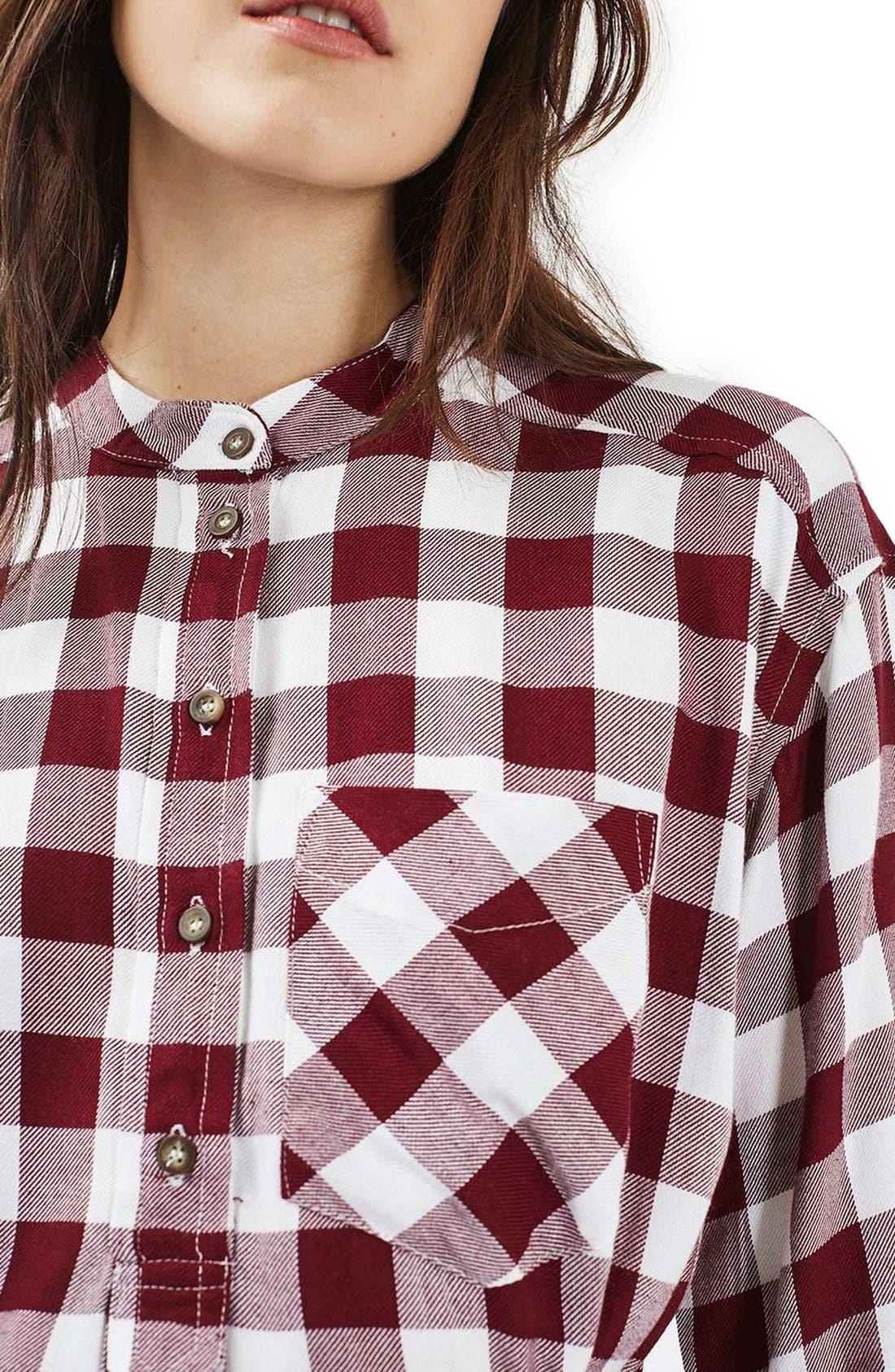 Alternate Image 5  - Topshop Check Shirtdress