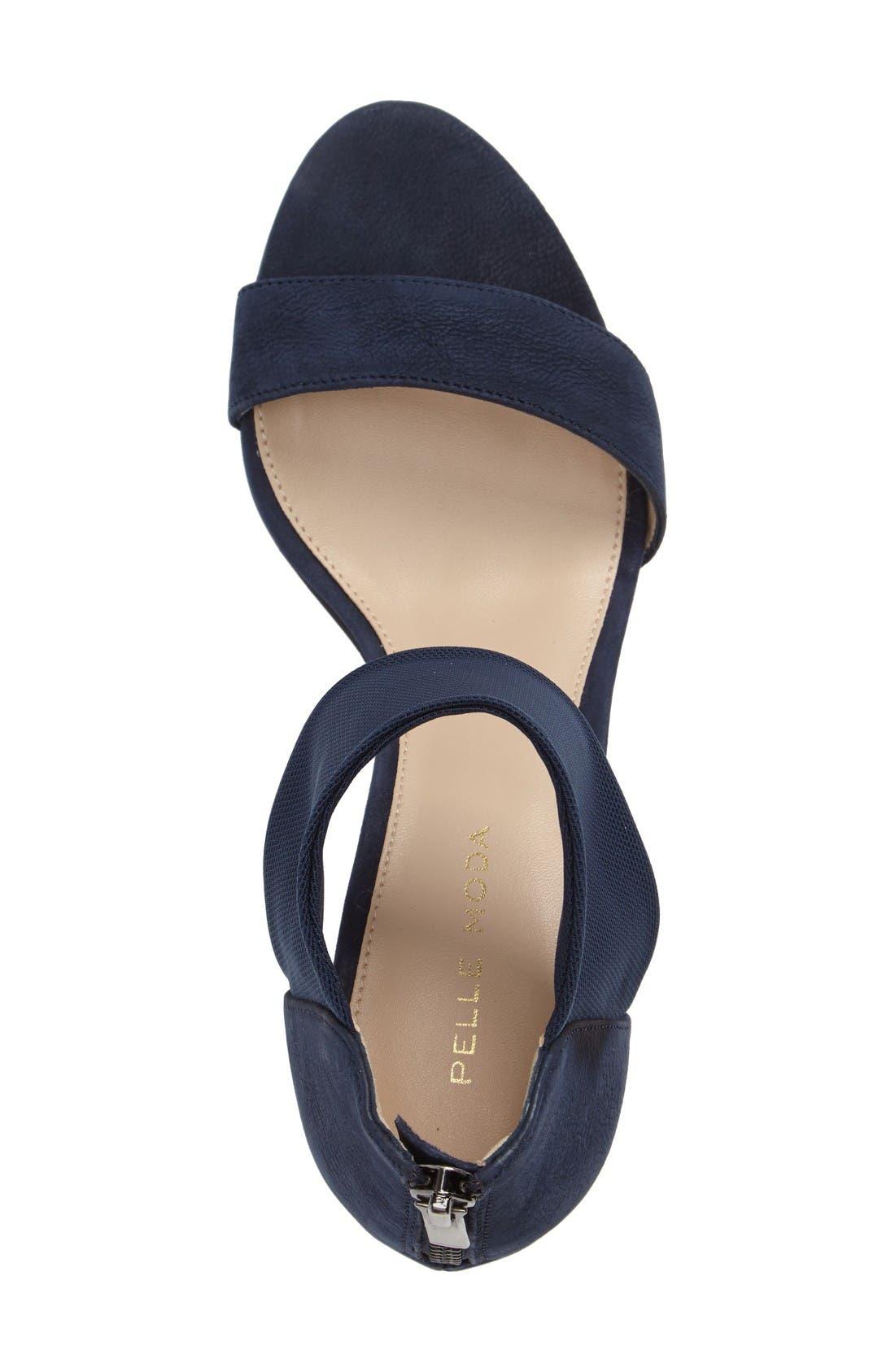 'Eden' Mesh Strap Sandal,                             Alternate thumbnail 3, color,                             Midnight Leather