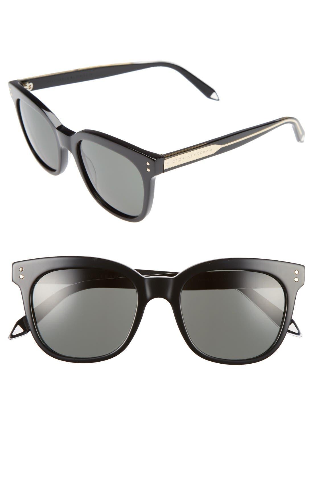 The VB 52mm Retro Sunglasses,                         Main,                         color, Black/ Soft Grey