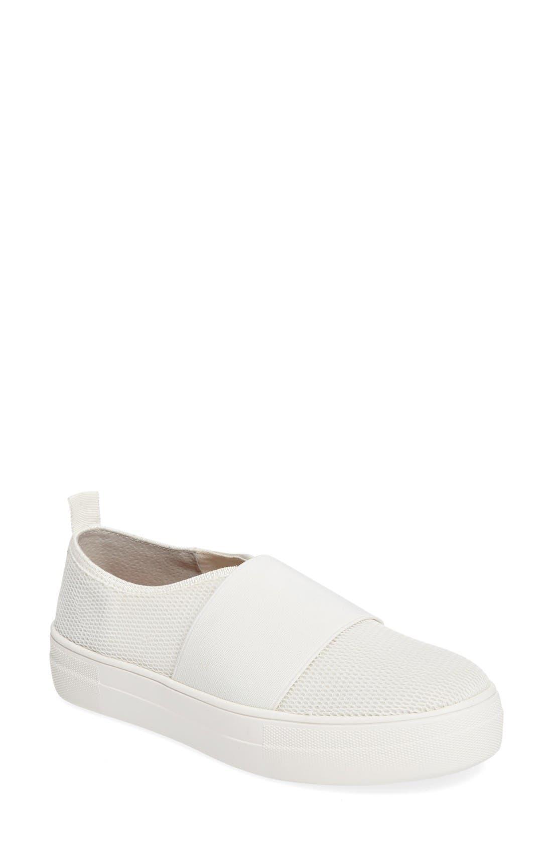 Glenn Slip-On Platform Sneaker,                             Main thumbnail 1, color,                             White