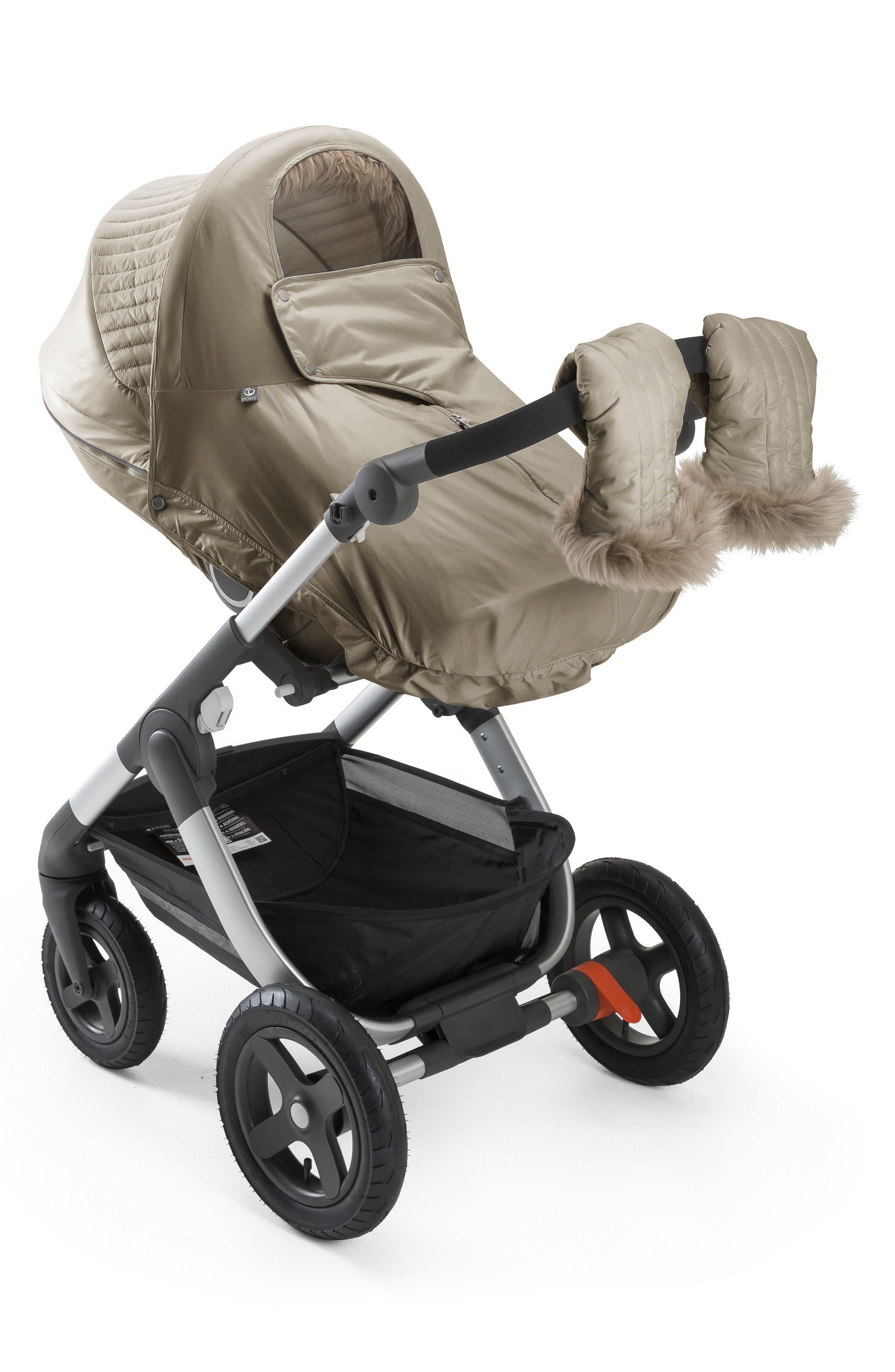 Stroller Winter Kit,                             Alternate thumbnail 3, color,                             Bronze Brown