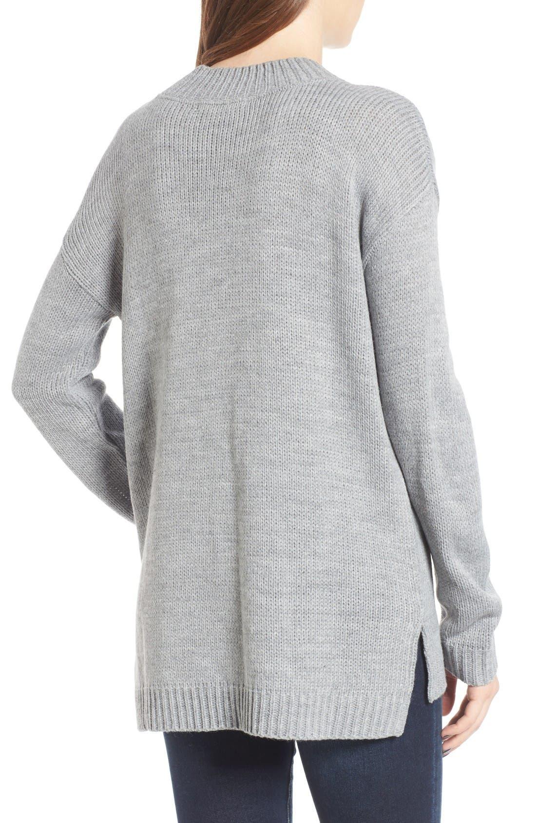 Alternate Image 2  - Cotton Emporium Mock Neck Tunic