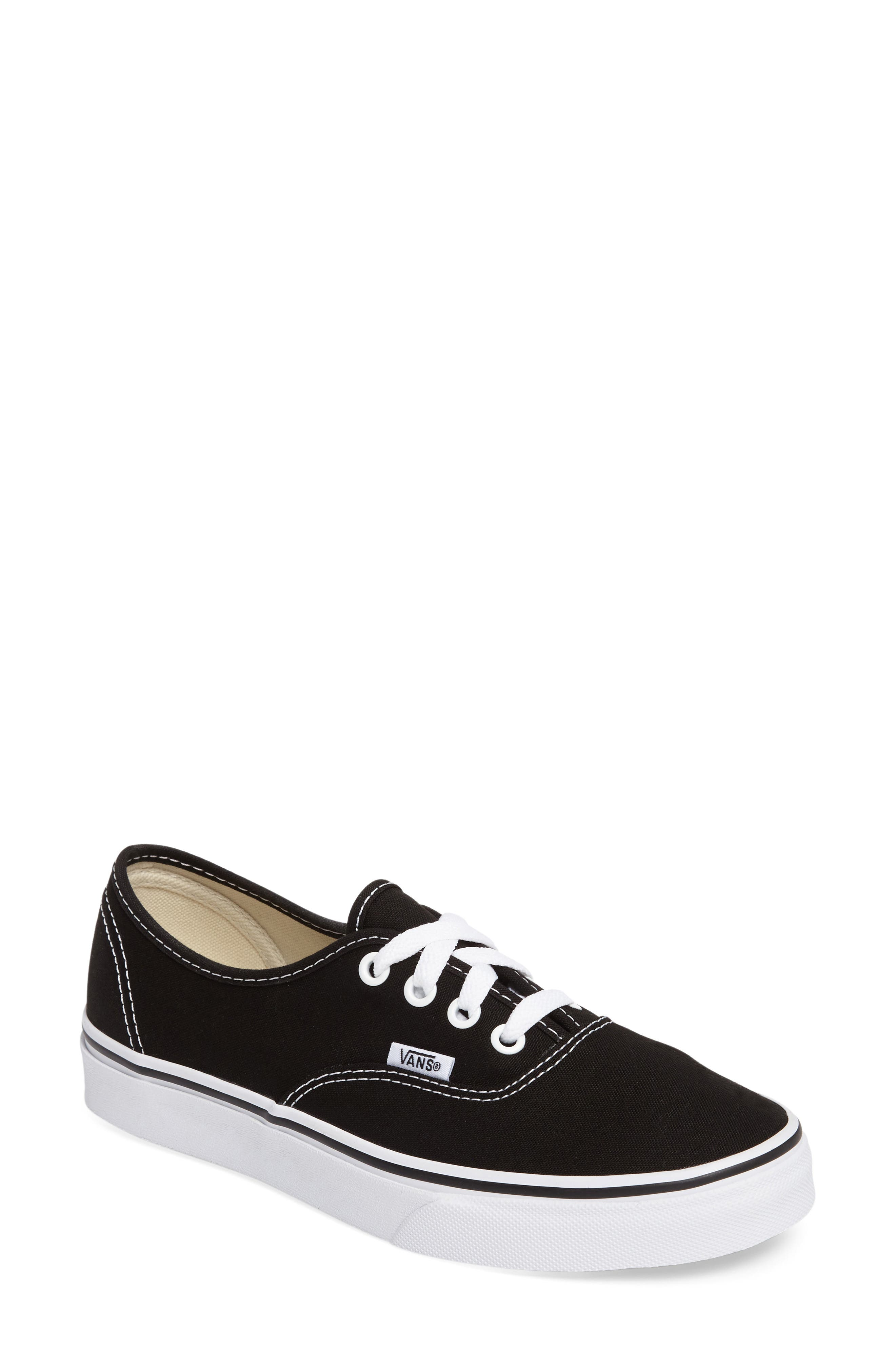 womens vans black and white