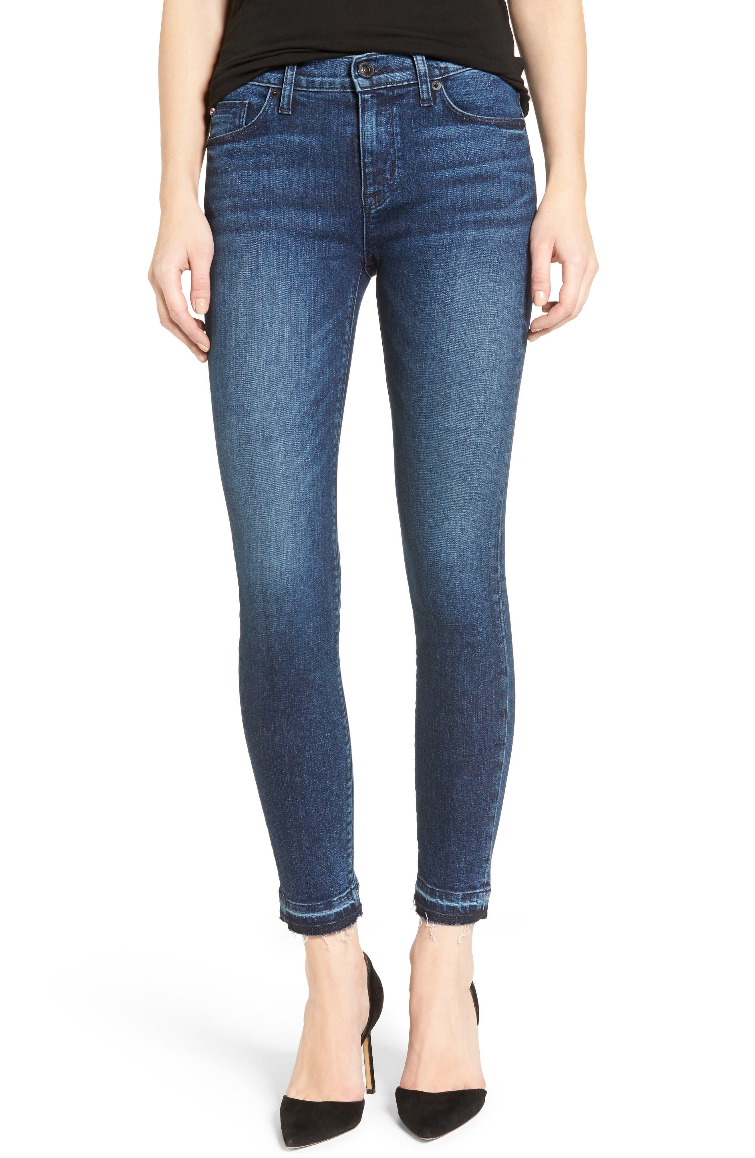 Main Image - Hudson Jeans Nico Released Hem Ankle Skinny Jeans