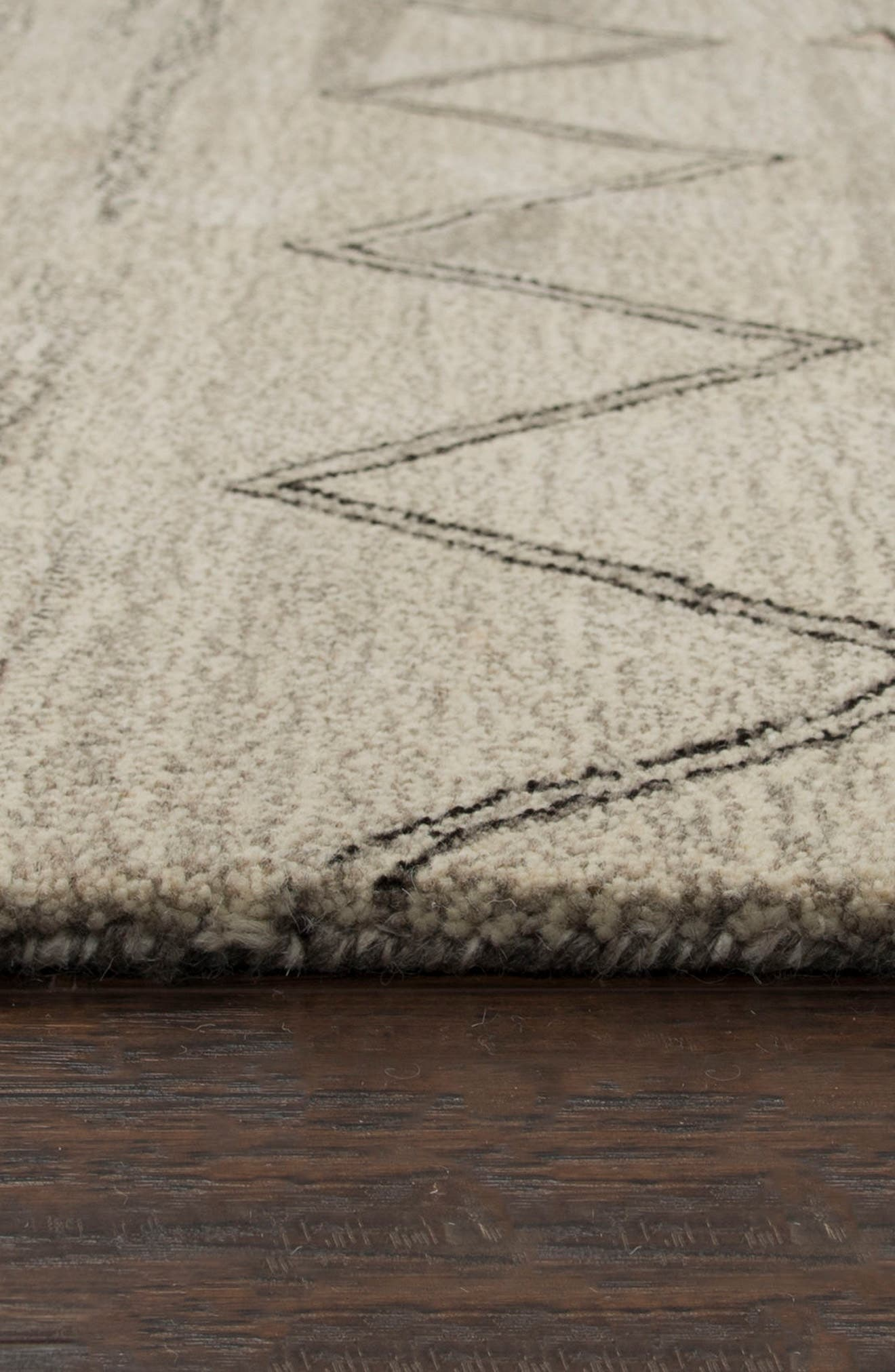 Desert Plains Hand Tufted Wool Area Rug,                             Alternate thumbnail 3, color,                             Grey