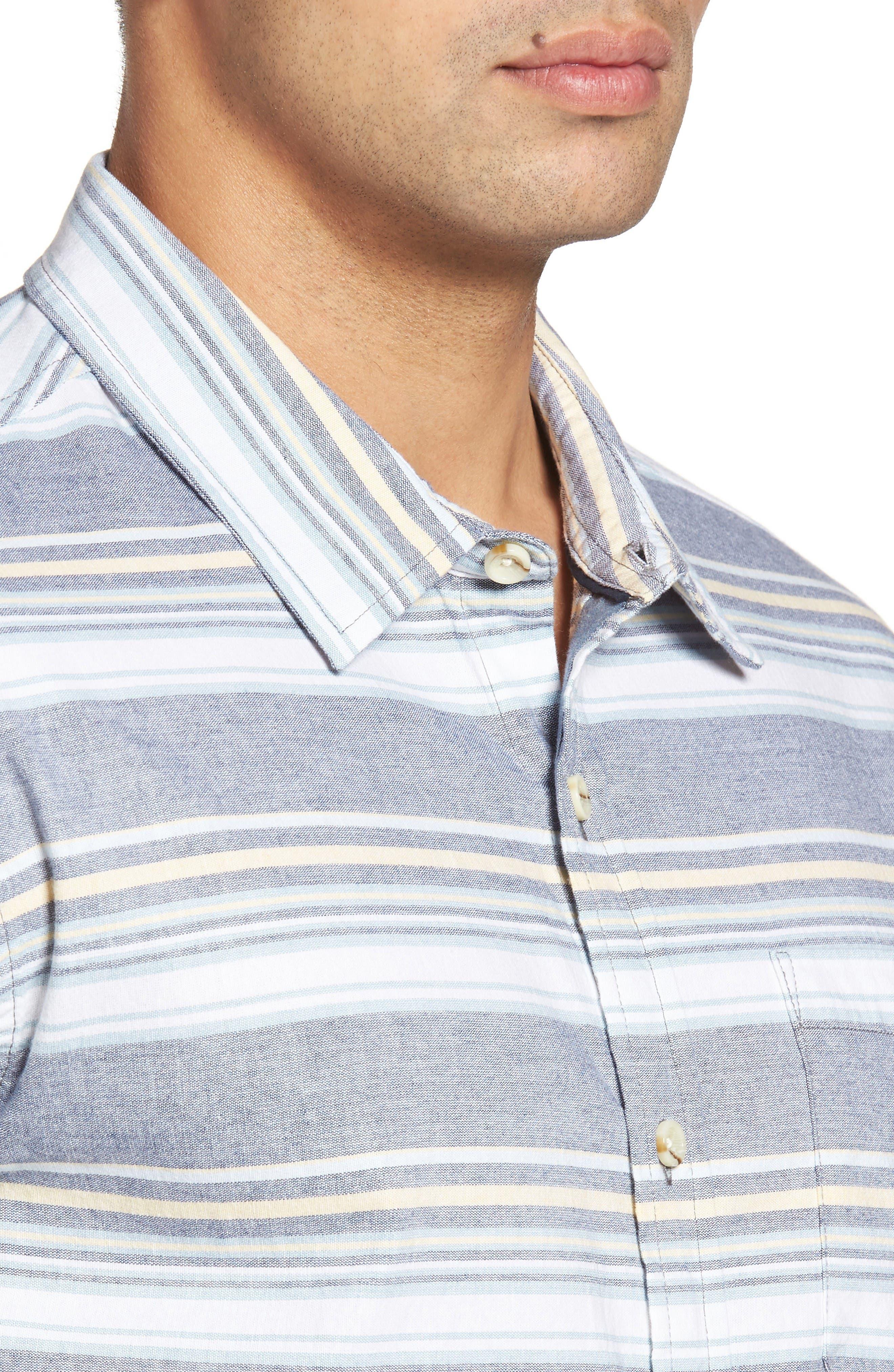 Pura Vida Sport Shirt,                             Alternate thumbnail 4, color,                             Navy