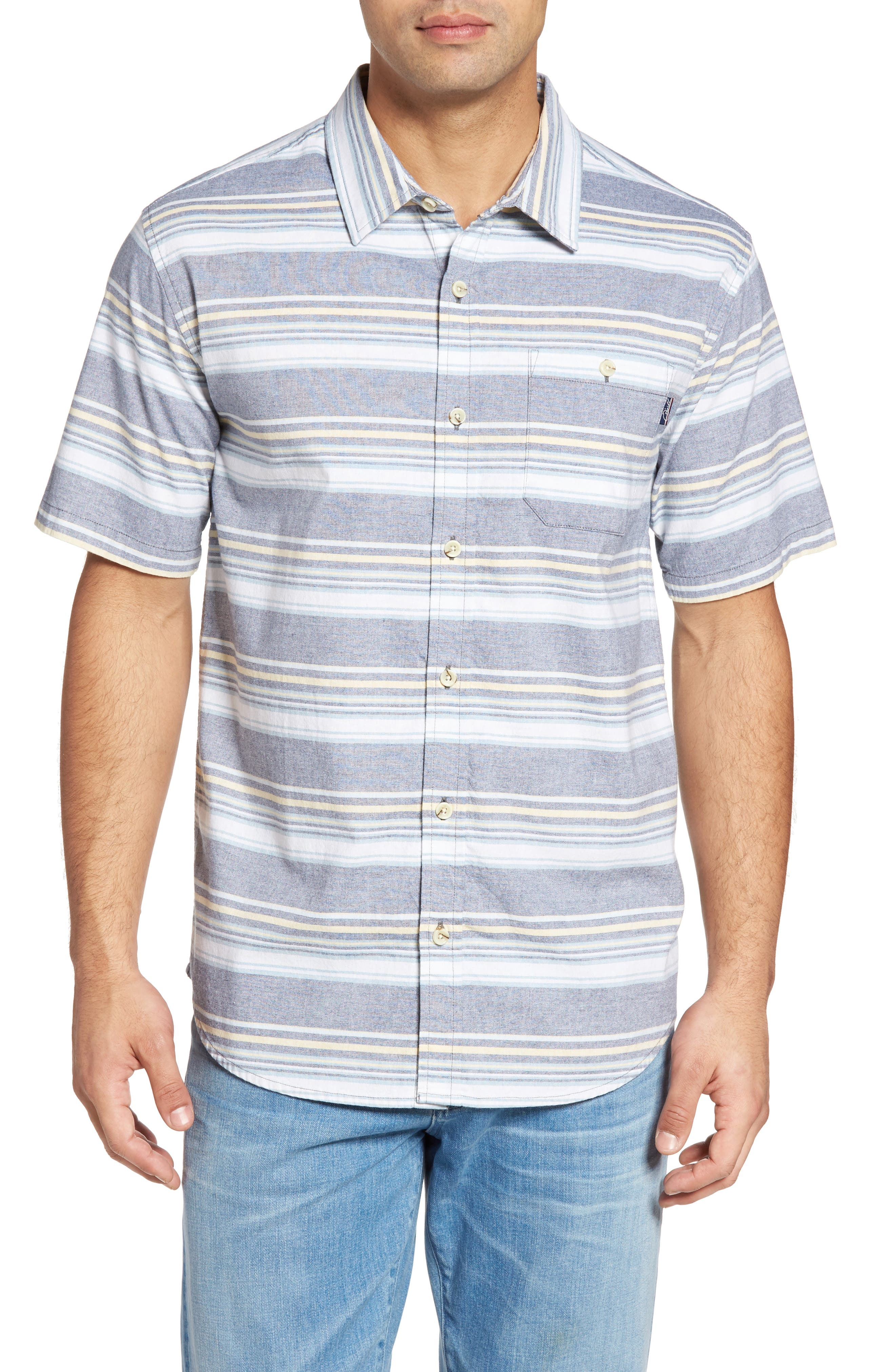 Pura Vida Sport Shirt,                         Main,                         color, Navy