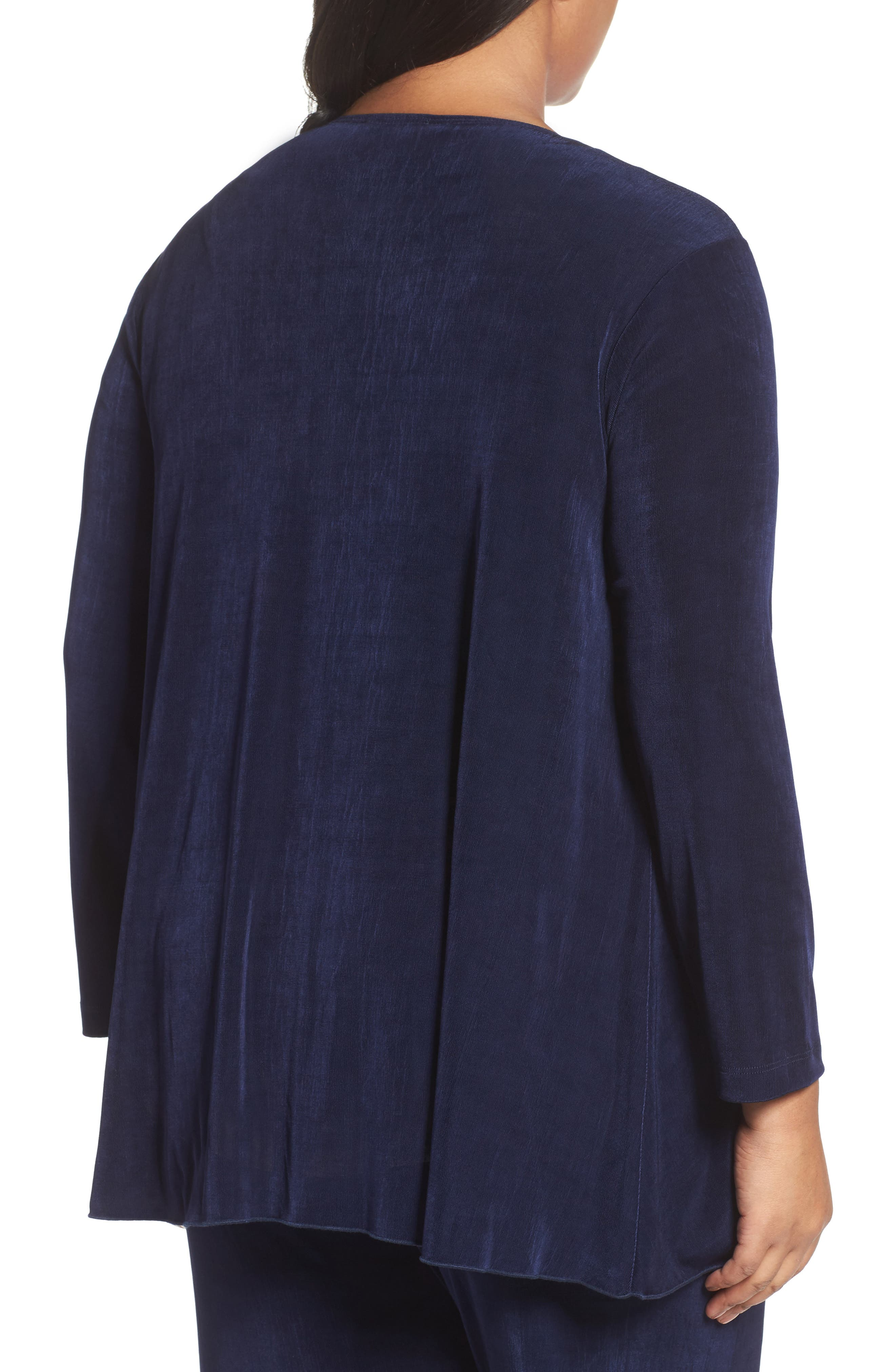 Open Front Swing Cardigan,                             Alternate thumbnail 2, color,                             Navy