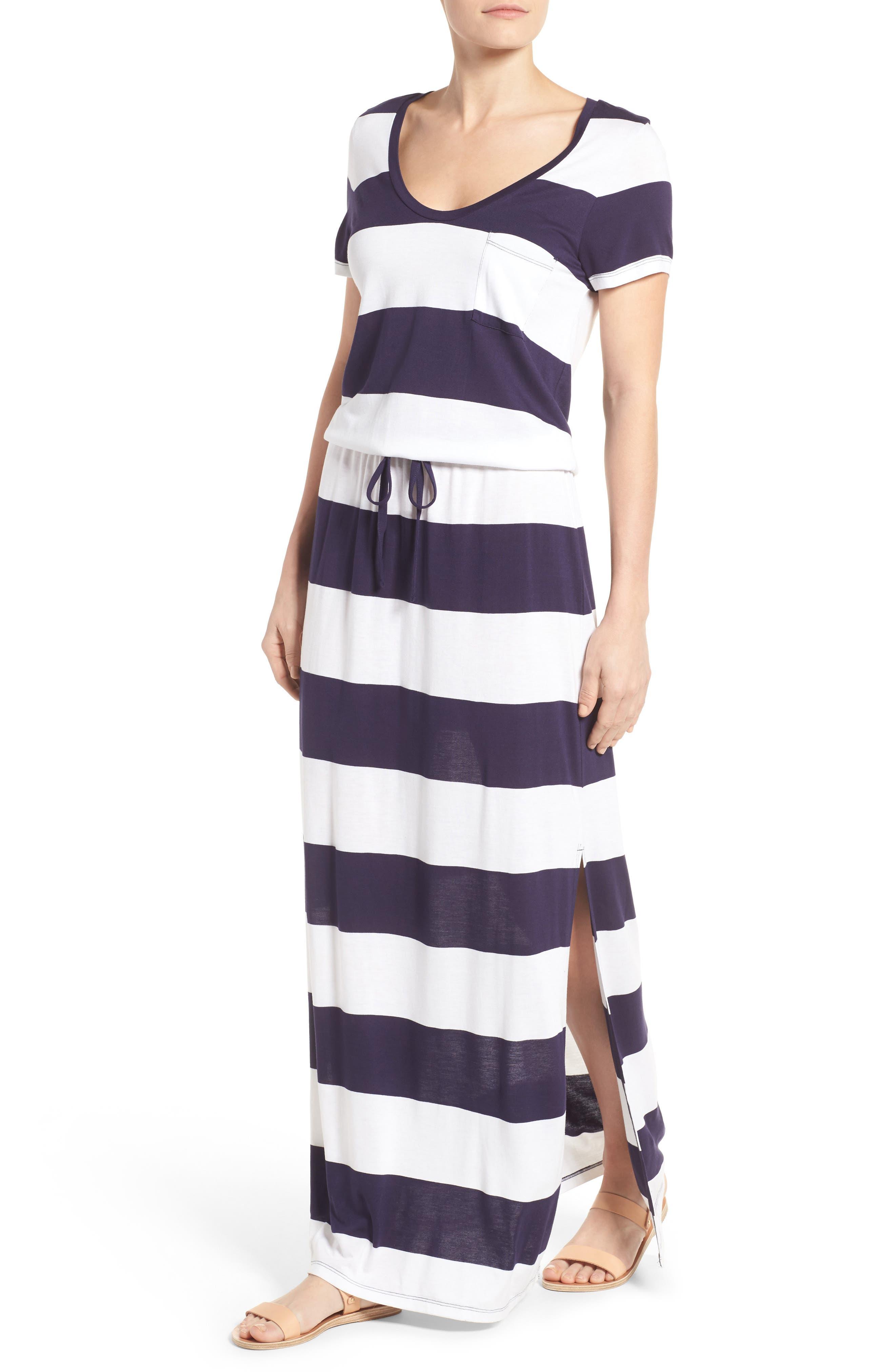 Alternate Image 4  - Caslon® Drawstring V-Neck Jersey Maxi Dress (Regular & Petite)