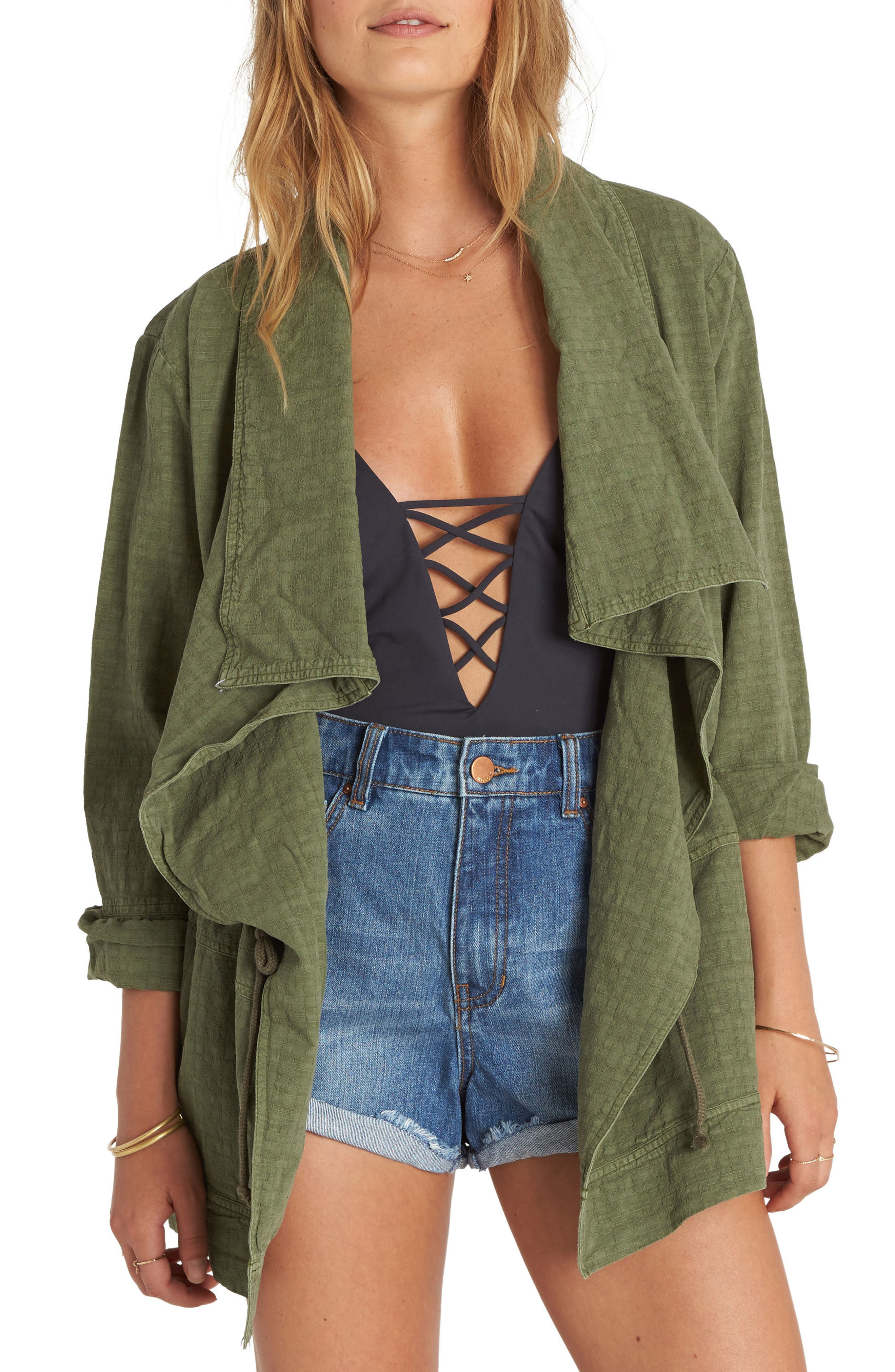 Main Image - Billabong Lost Then Found Draped Utility Jacket