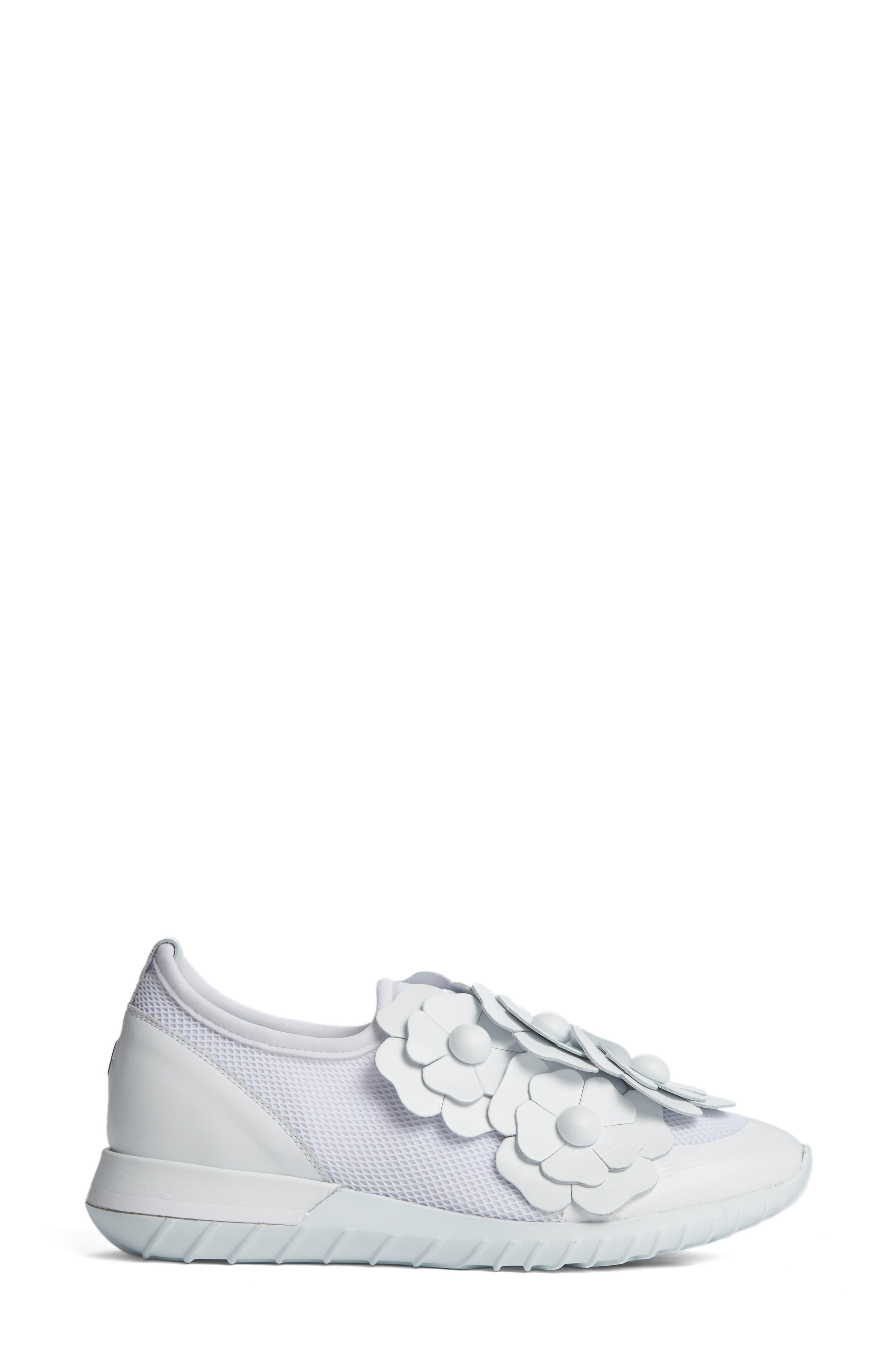 Emy Roseline Slip-On Sneaker,                             Alternate thumbnail 4, color,                             White Leather