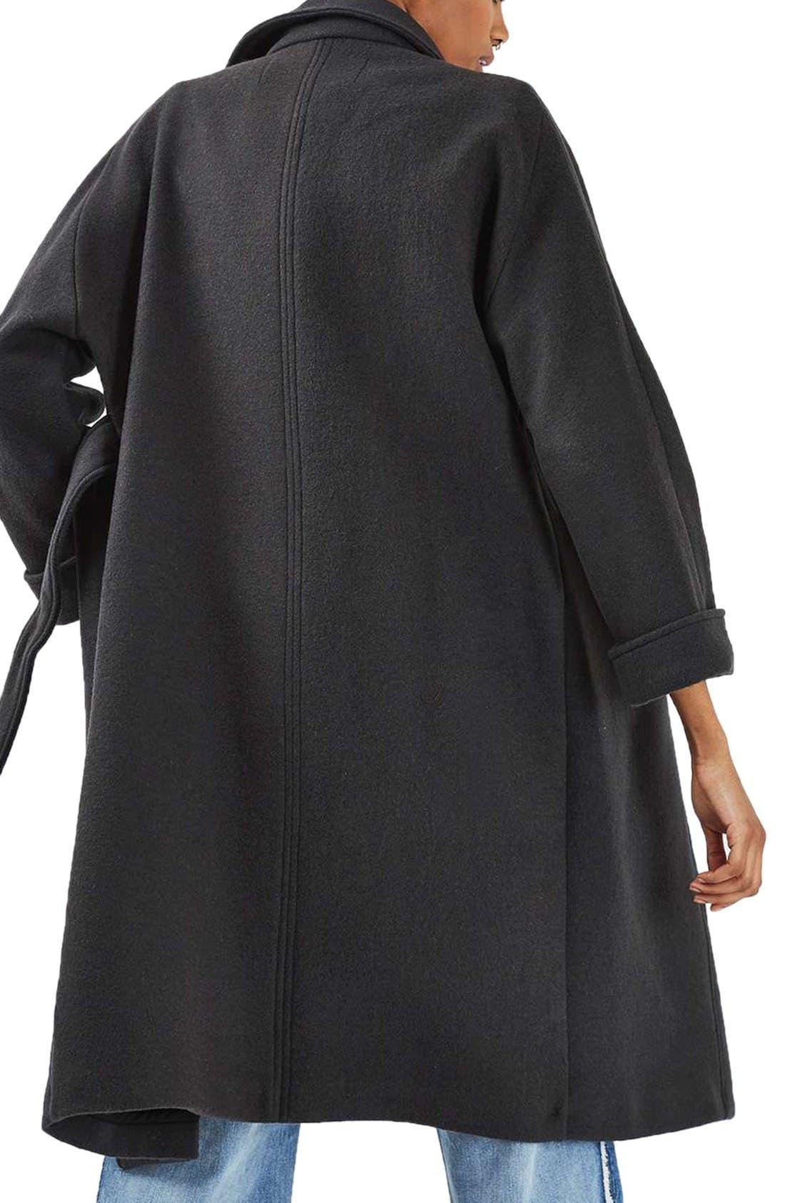 Alternate Image 3  - Topshop Wool Blend Coat