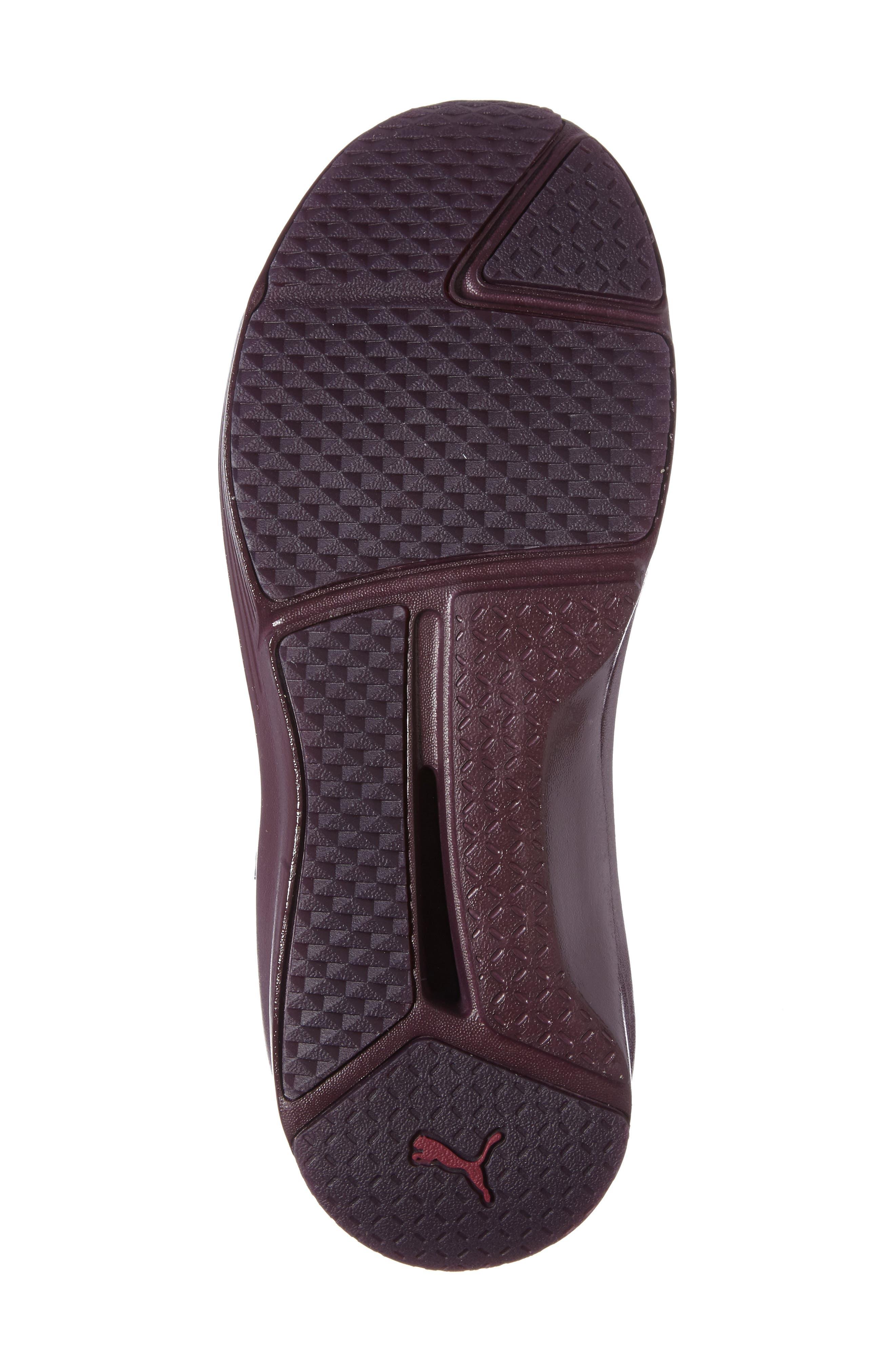 Fierce KRM High Top Sneaker,                             Alternate thumbnail 4, color,                             Red Plum