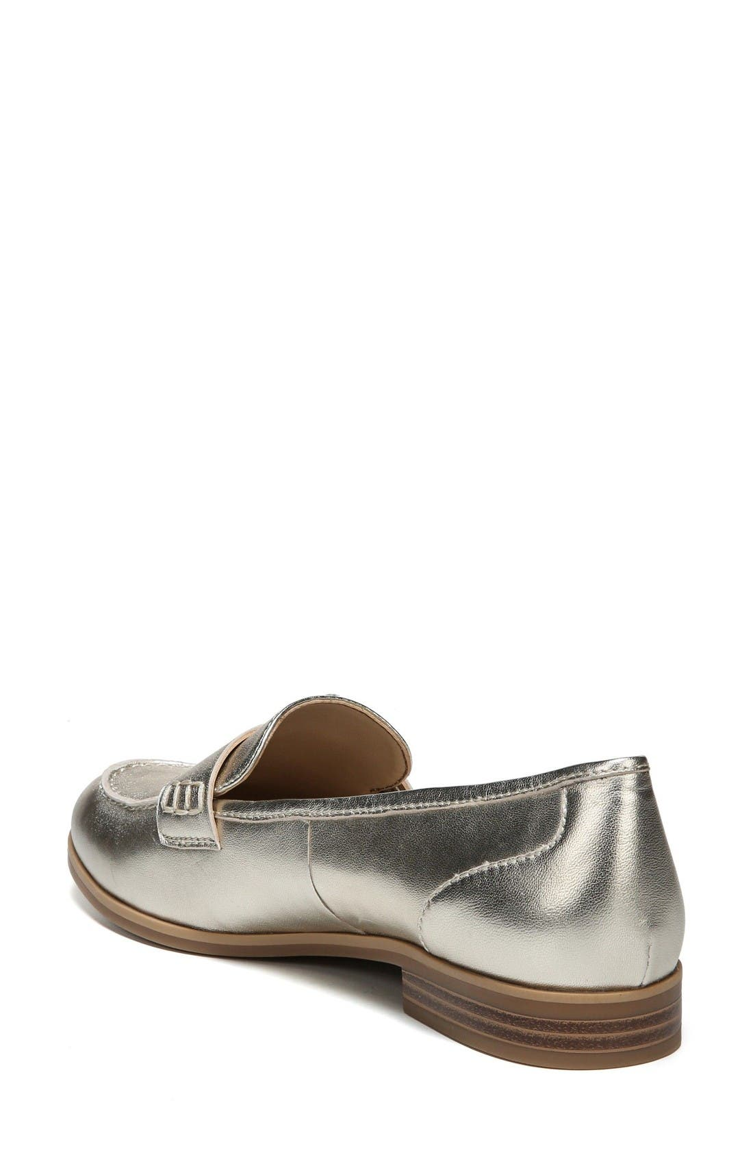 Veronica Loafer,                             Alternate thumbnail 2, color,                             Platina Leather