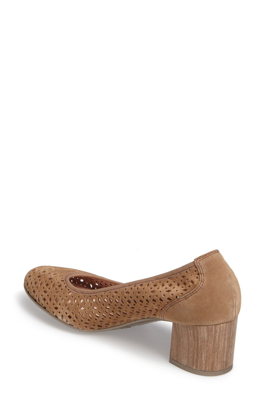 Jovanna Perforated Pump,                             Alternate thumbnail 2, color,                             Velour Avena Leather