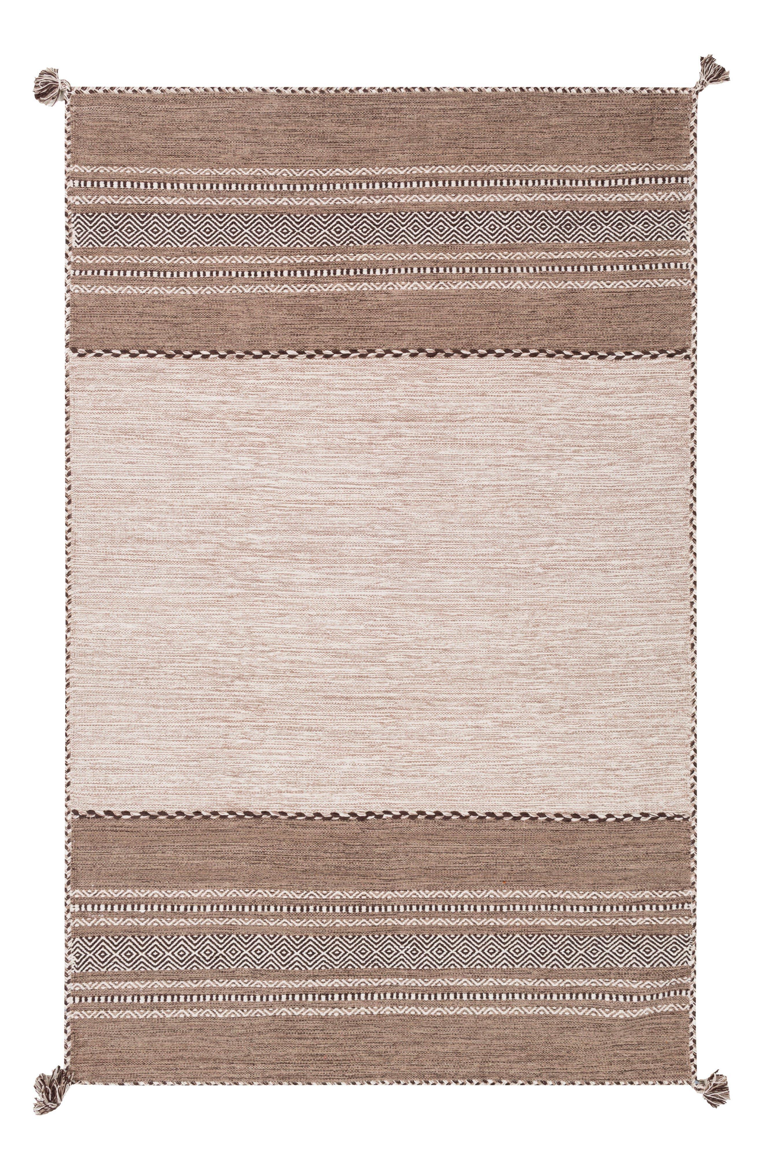 Alternate Image 1 Selected - Surya Home Trenza Global Stripe Rug