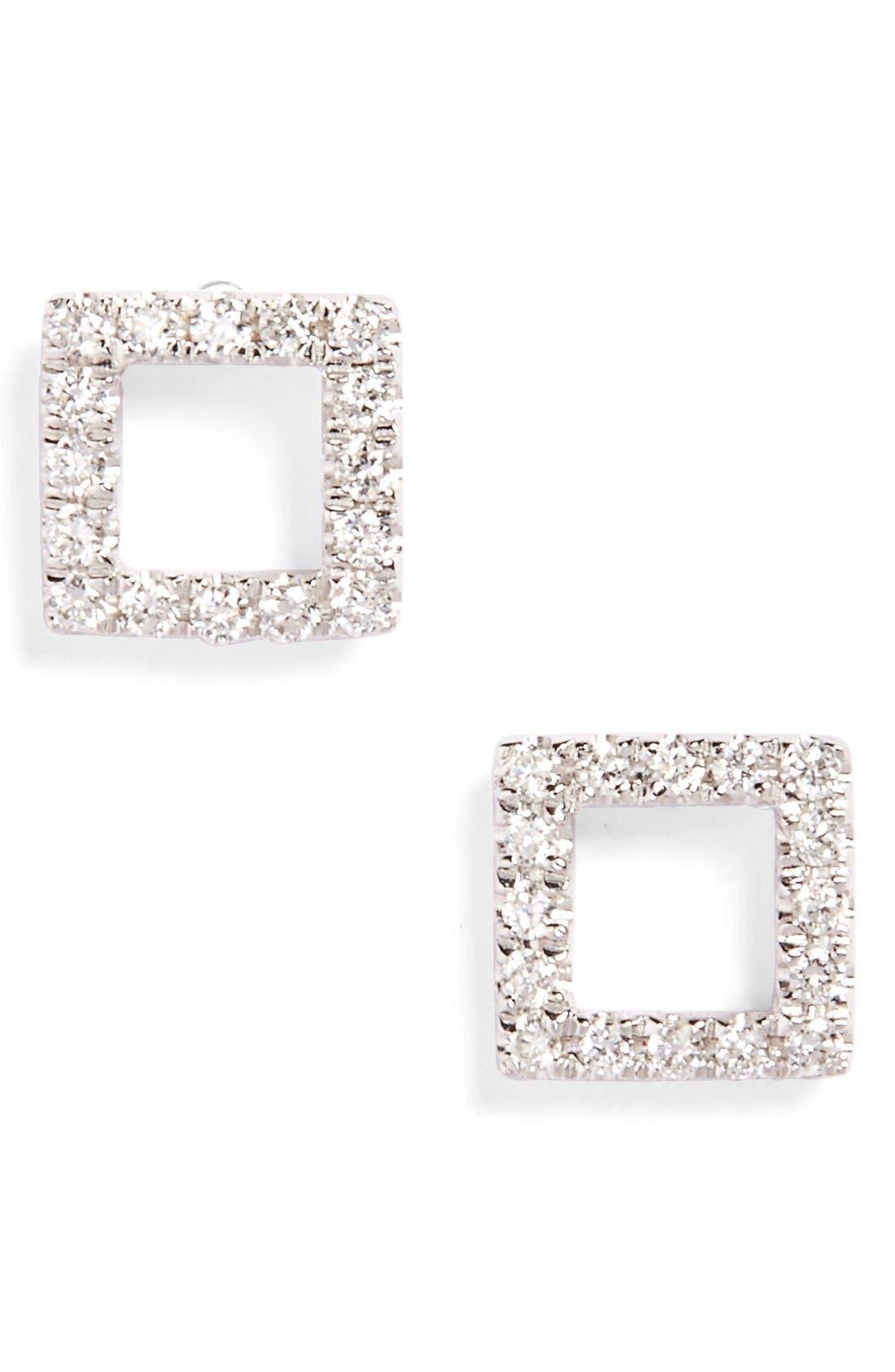 Bony Levy Aurora Diamond Open Square Stud Earrings (Nordstrom Exclusive)